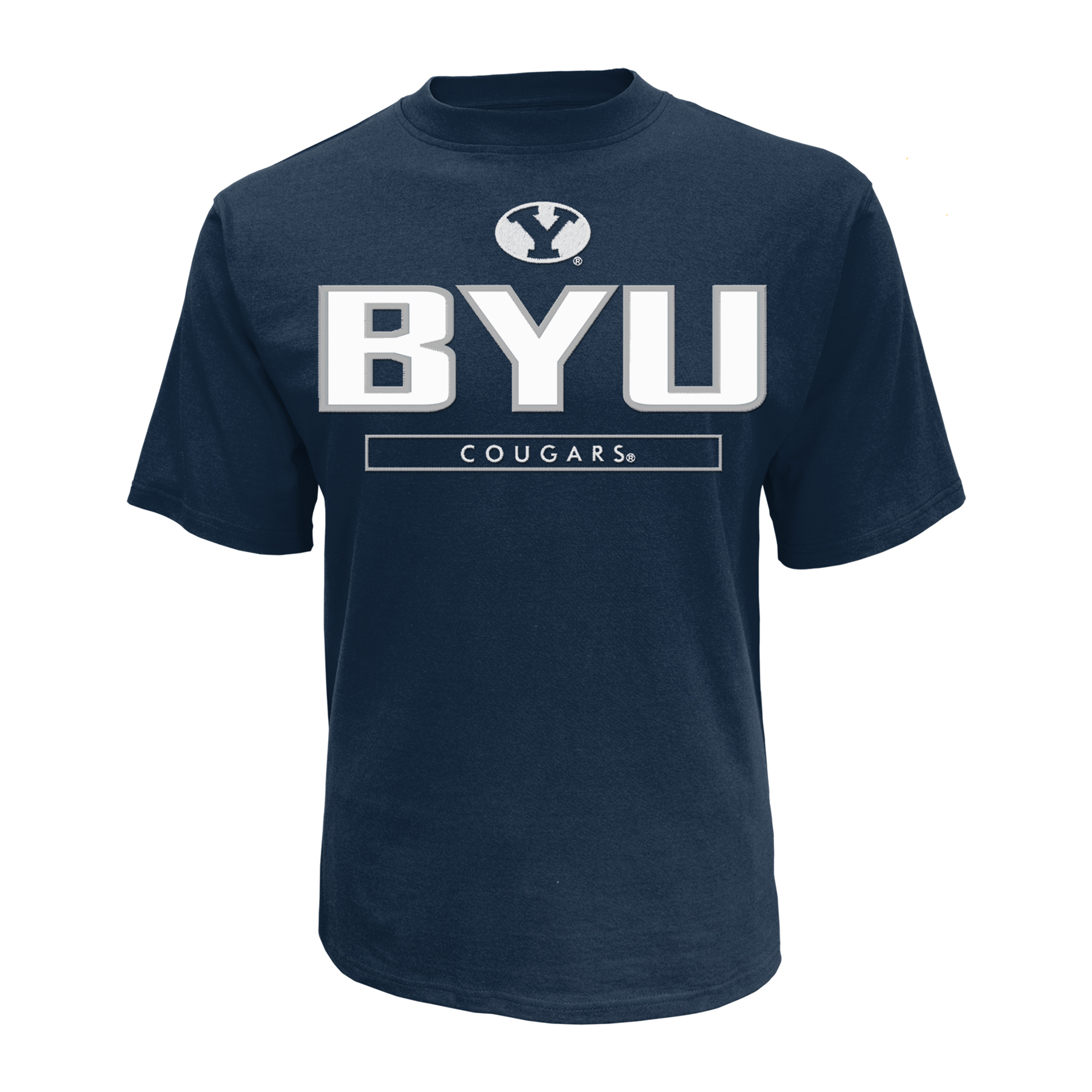 petite NCAA Men's Applique Short-Sleeve T-Shirt - BYU Cougars, Size: XL