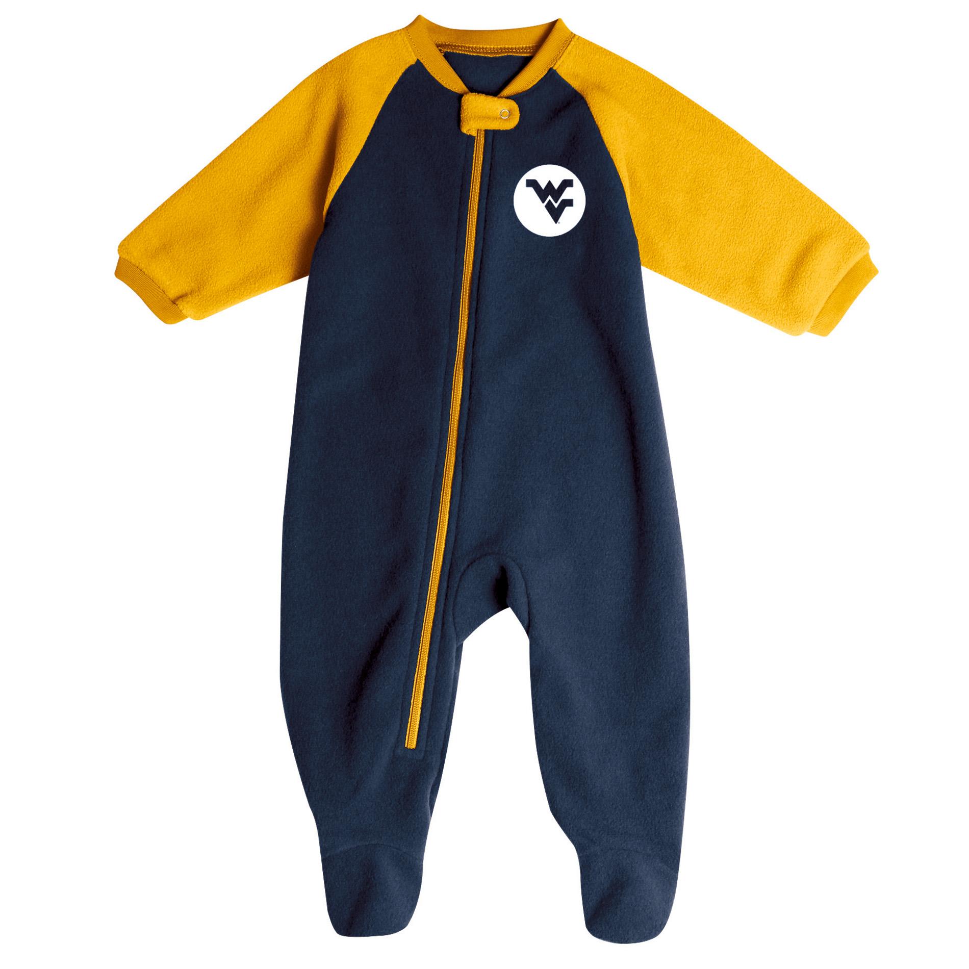 NCAA Infant Boys' Logo Blanket Sleeper - West Virginia Mountaineers, Size: 6-9 Months, Black im test