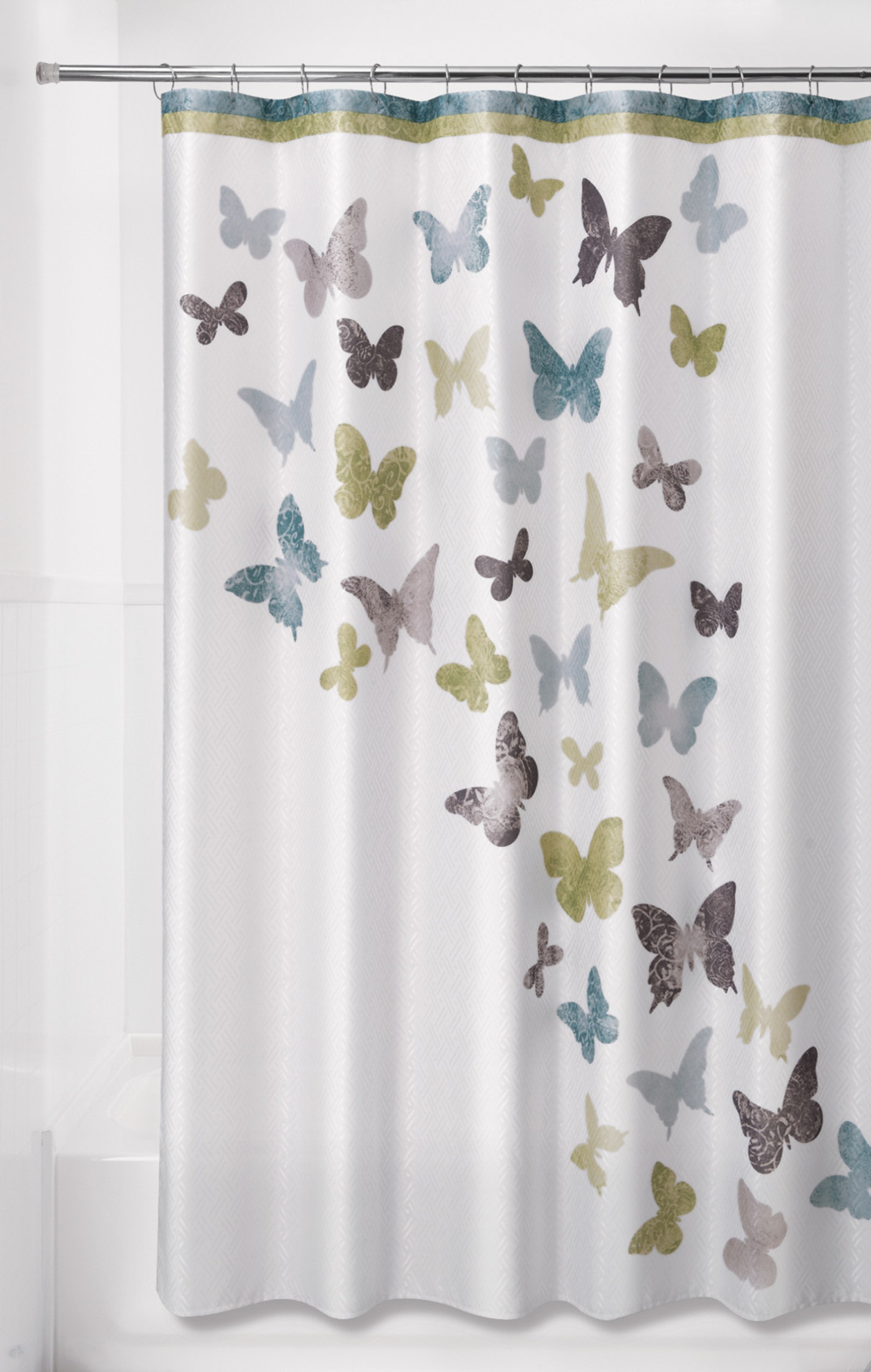 "Essential Home 70 X 72"" Flight Shower Curtain"