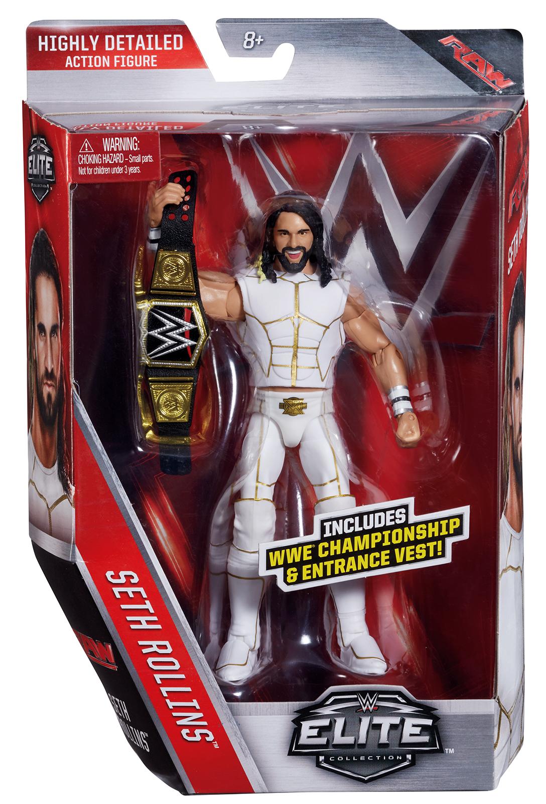 Wwe Seth Rollins Elite 45 Toy Wrestling Action Figure