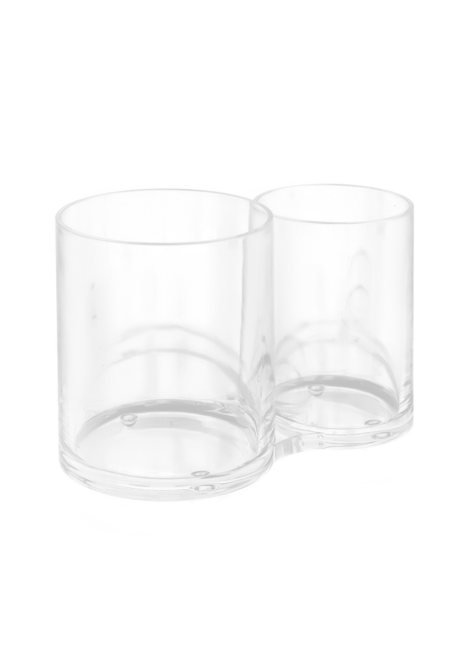 Acrylic Duo Cups Clear Brush Holder  2 Pc PartNumber: 015W008088075001P KsnValue: 8088075 MfgPartNumber: 69C40419I