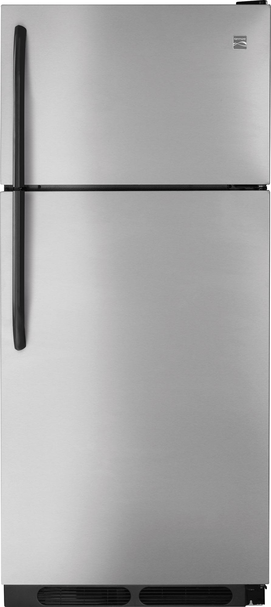 Kenmore 60413 18 cu ft Top-Freezer Refrigerator - 30 width - Stainless Steel, Stainless steel