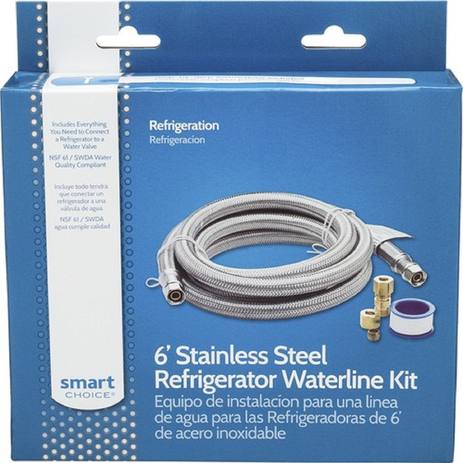 Frigidaire 33000 Smart Choice 6' Stainless Steel Refrigerator Waterline Kit