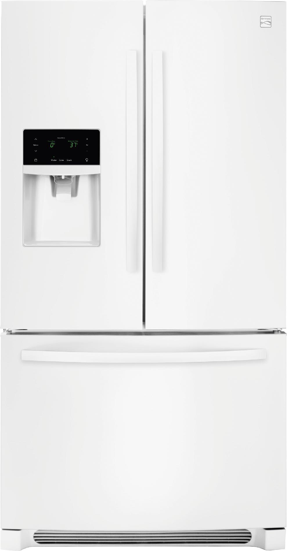 Kenmore 70342 272 cu ft french door refrigerator white rubansaba