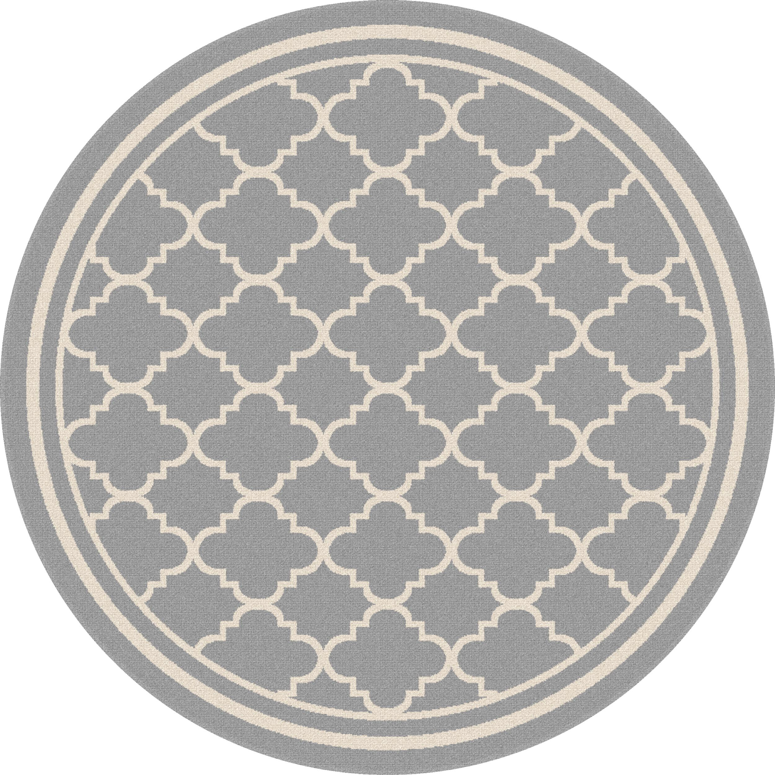 Tayse Rugs Garden City Tangier Gray 7 ft. 10 in. Round Transitional Area Rug