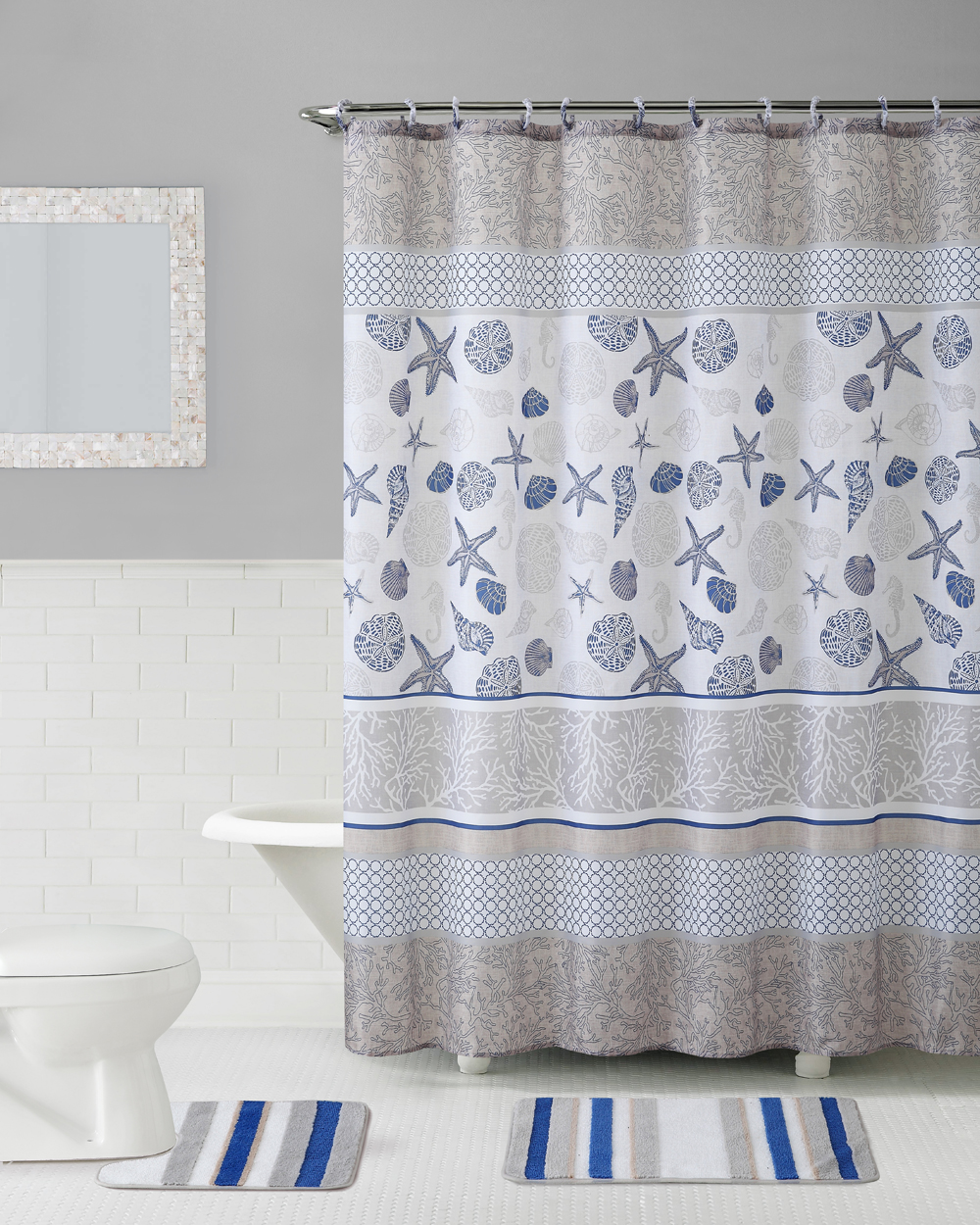 Shower Curtain Bath Set