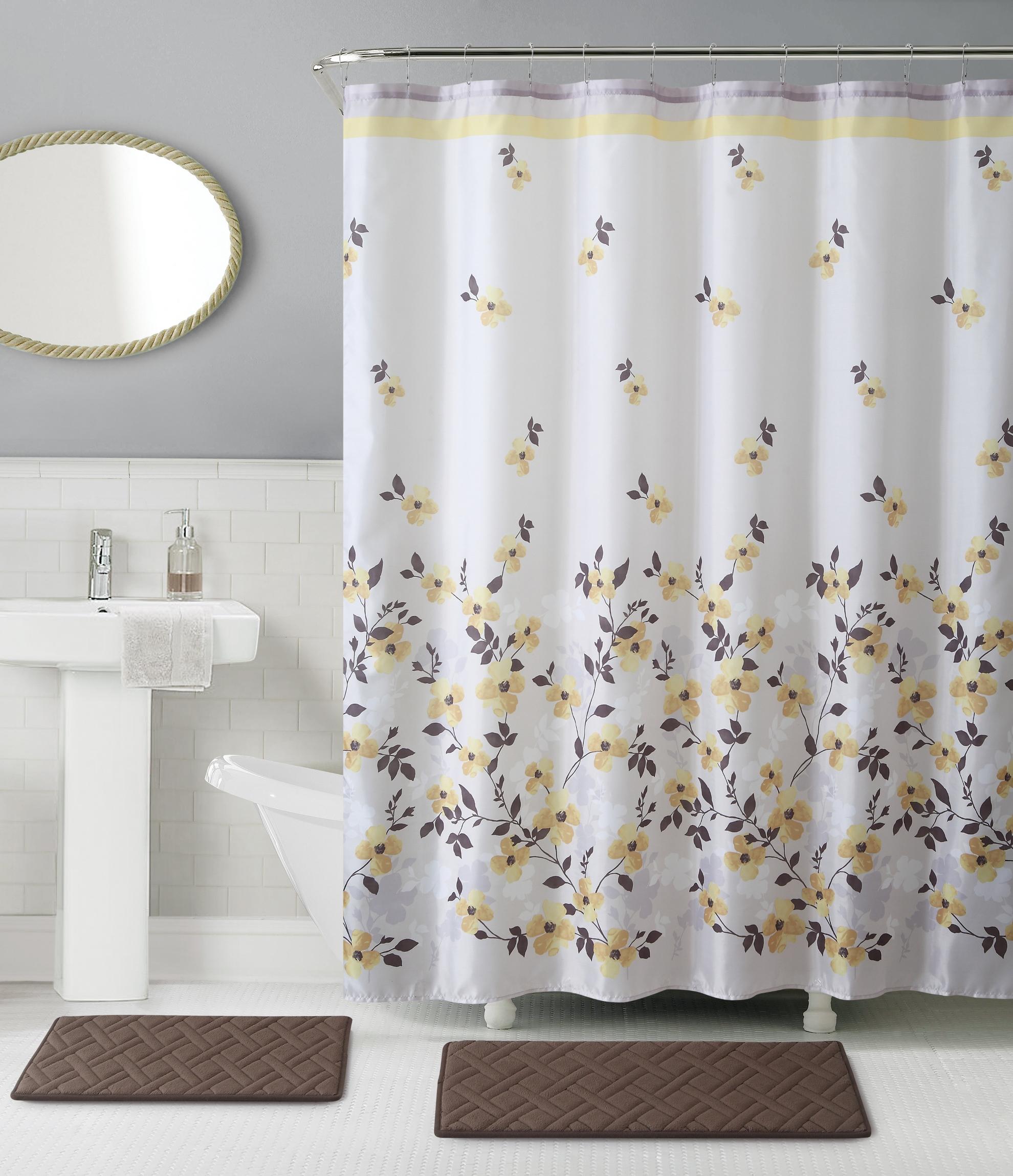 Essential Home 15-Piece Giana Bath Set - Yellow