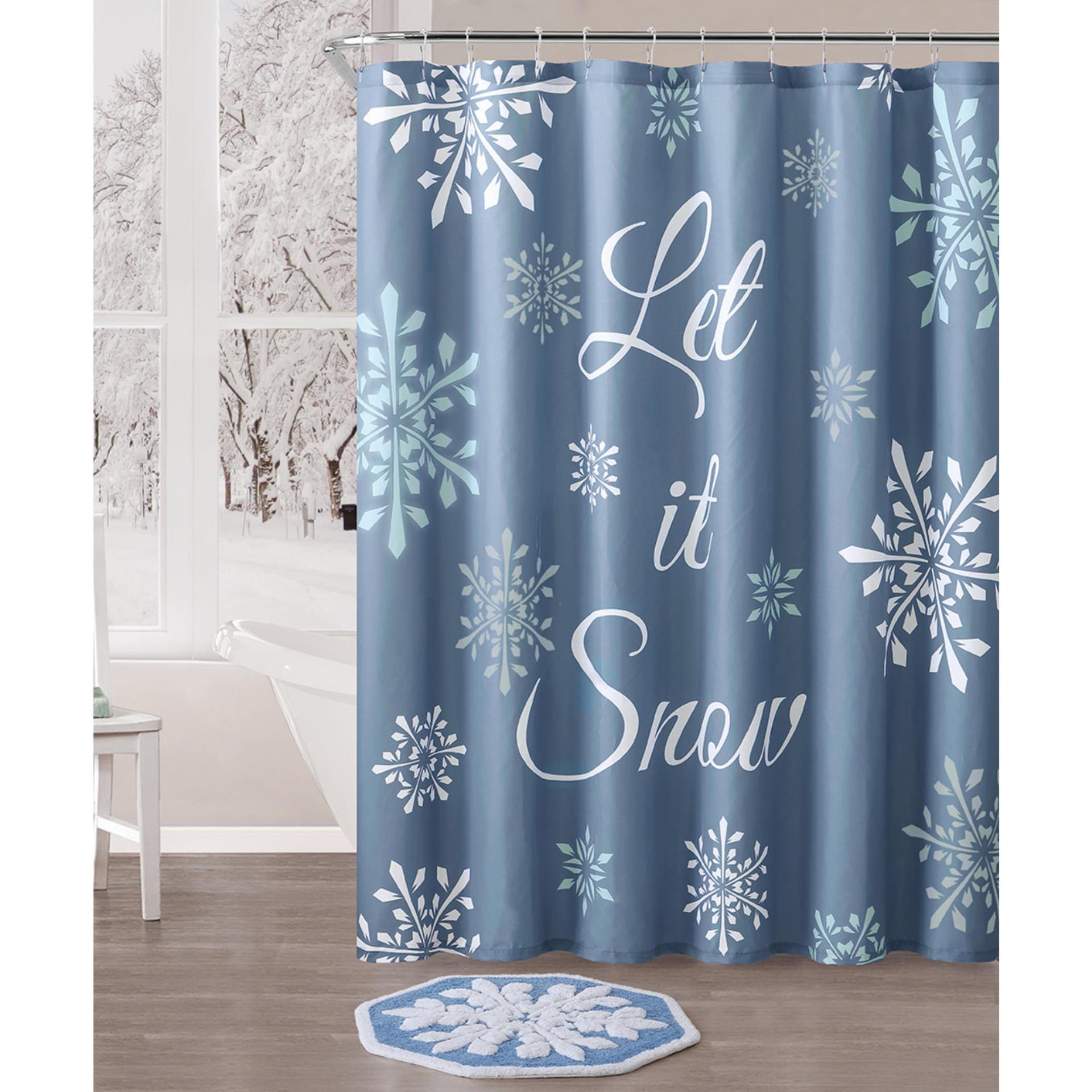 Let It Snow 72 X 72 Shower Curtain Home Bed Bath Bath Bathroom Accessories Bath