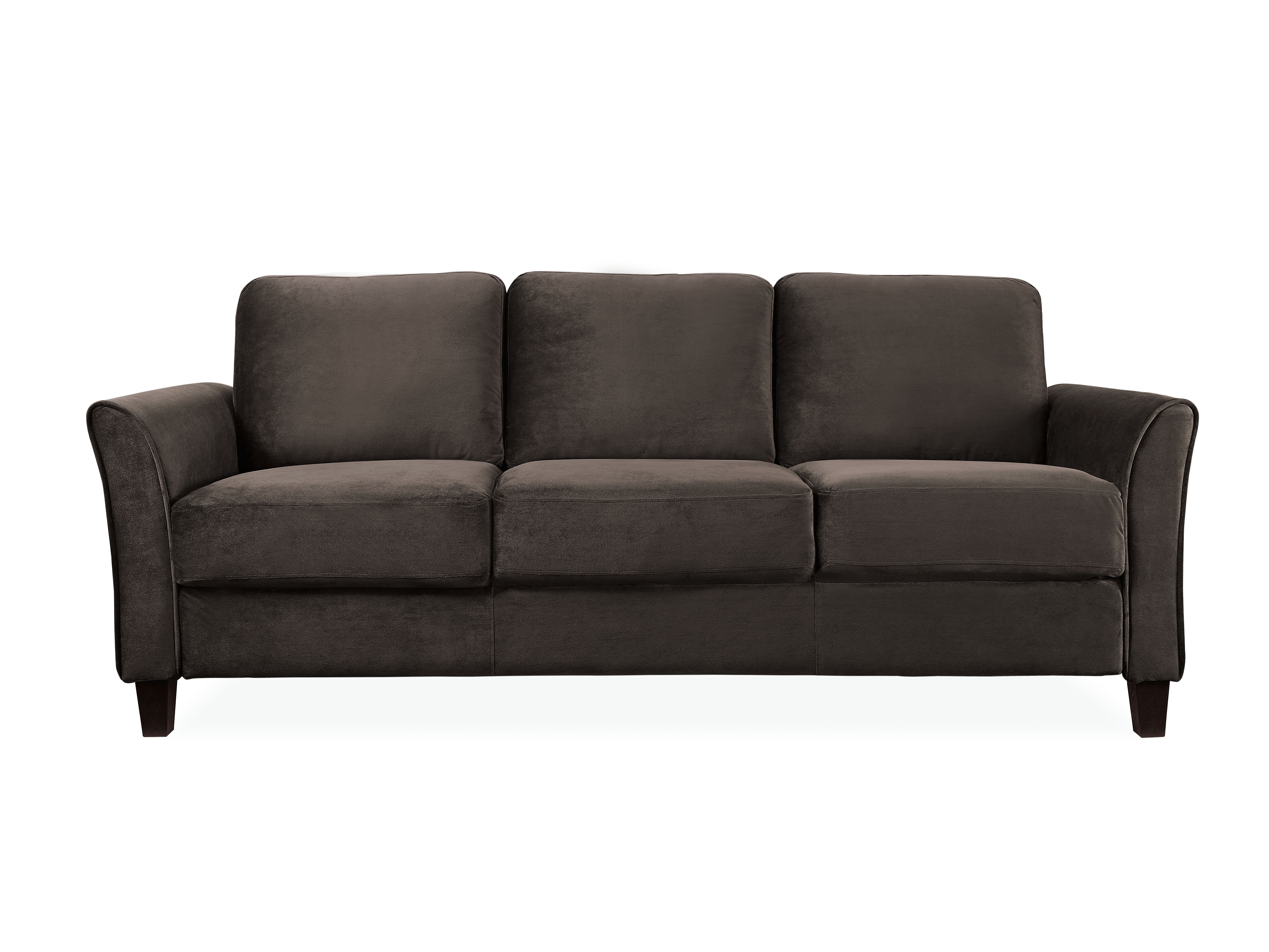 Lifestyle Solutions Westin Sofa With Curved Arm Coffee