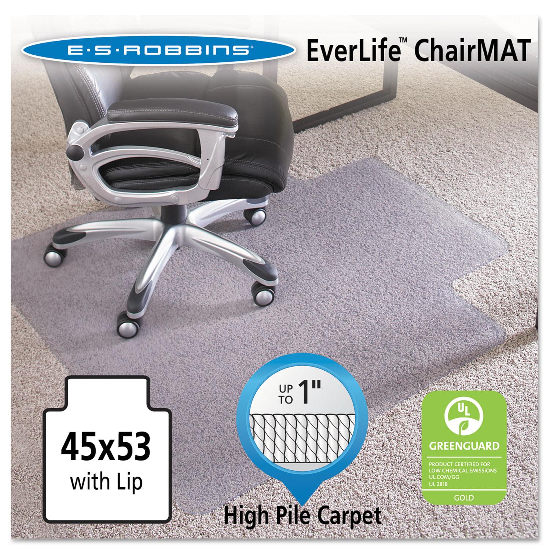 es robbins es robbins 45x53 lip chair mat performance series anchorbar for carpet up to 1