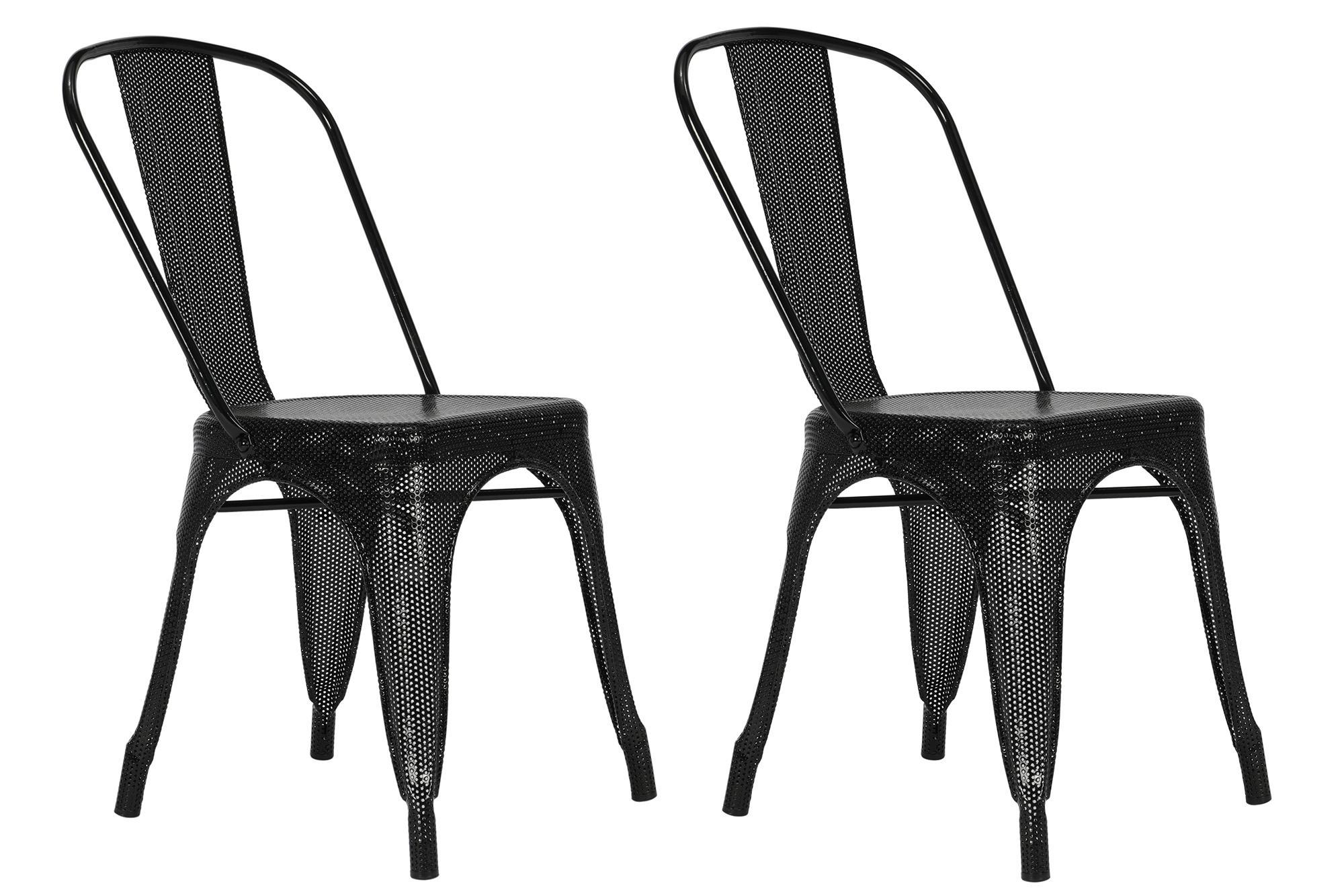Dorel Home Furnishings Nova Black Metal Mesh Dining Chair, Set of 2