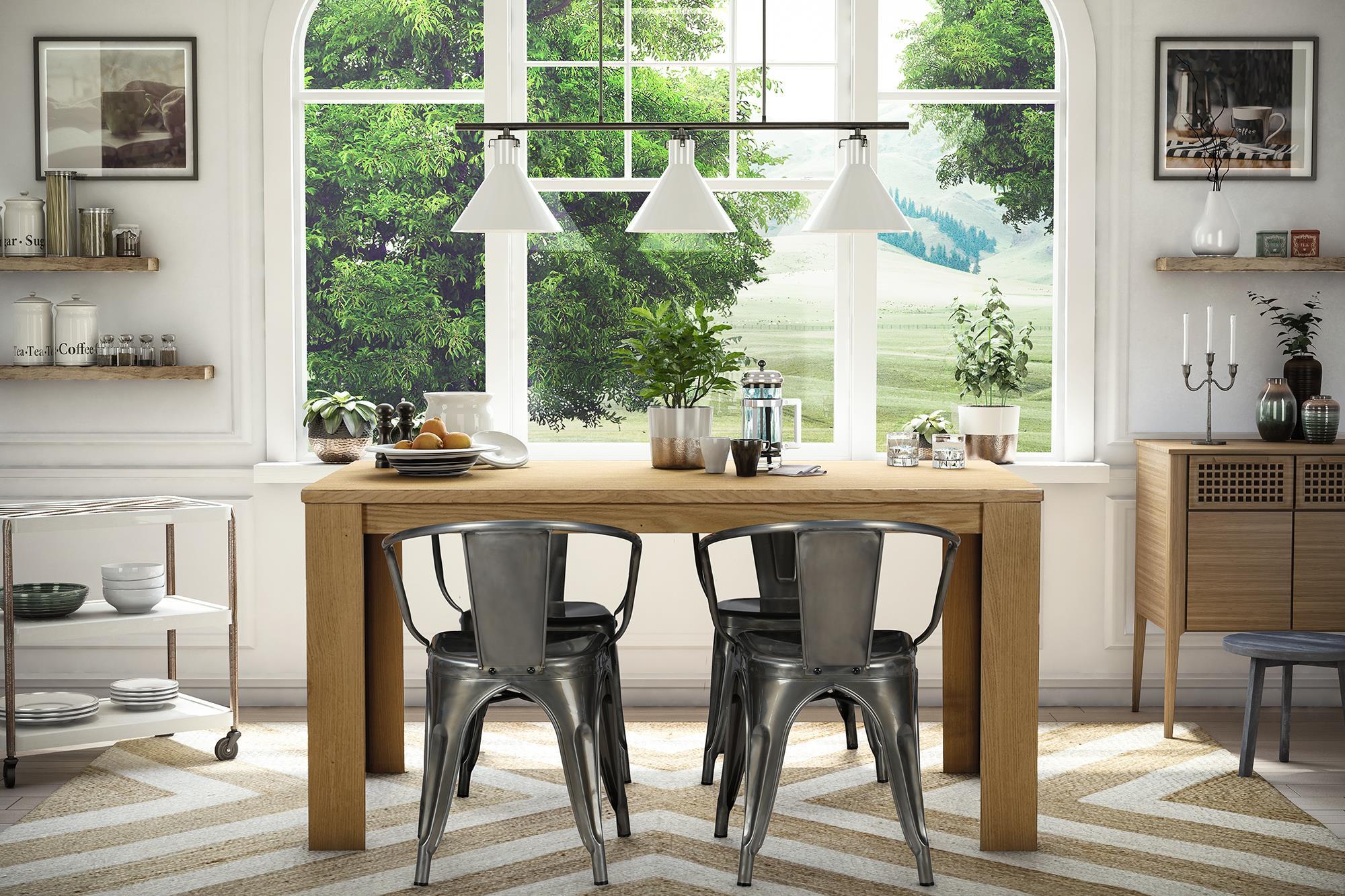 dorel home furnishings elise antique gunmetal metal dining chair set of 2 4 - Metal Dining Room Chairs
