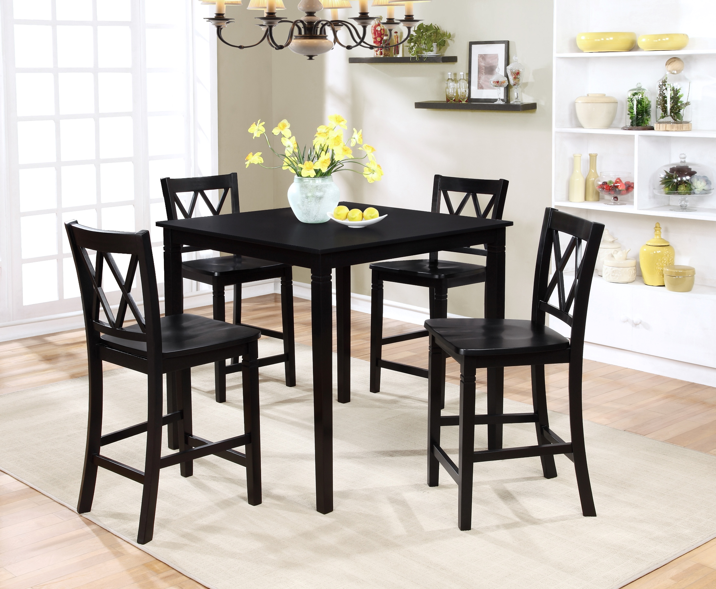 small dining room sets essential home dahlia 5 square table dining set 29867