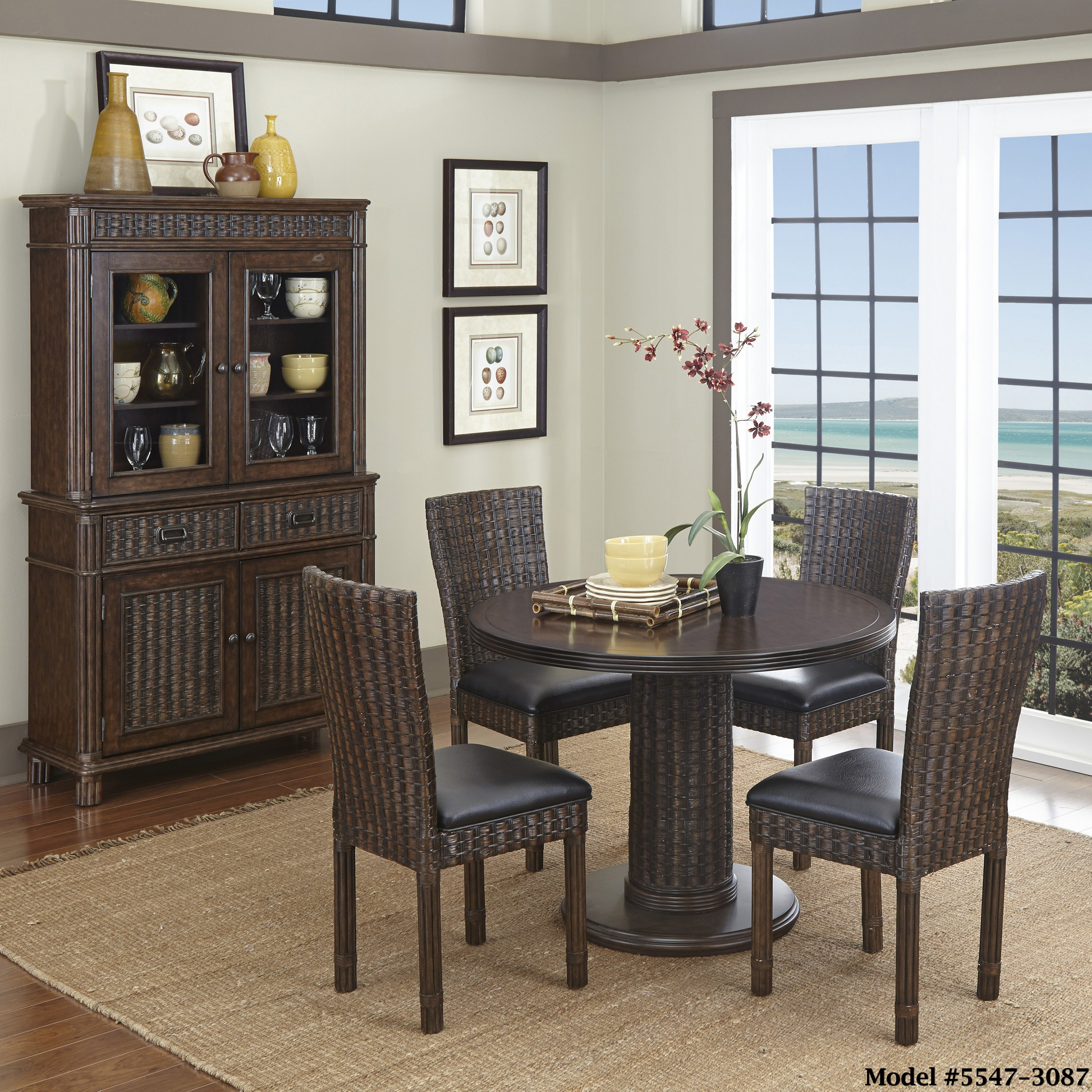 Dining Room Set With Hutch: Home Styles Castaway 5PC Dining Set, Buffet, And Hutch