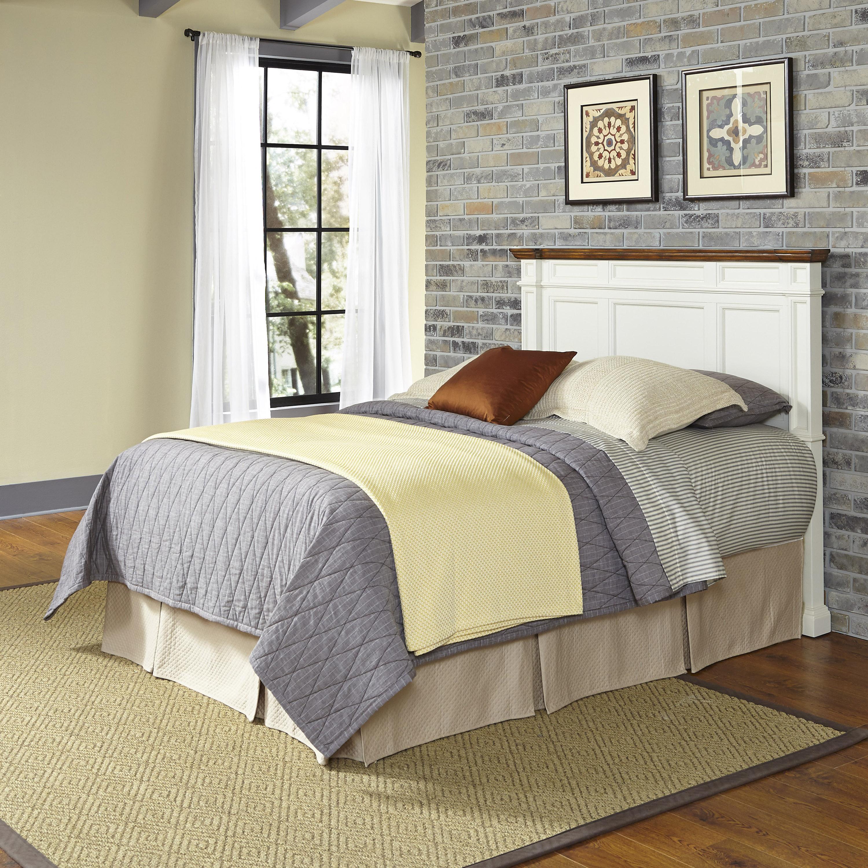 Home Styles White and Oak Americana Queen/Full Headboard