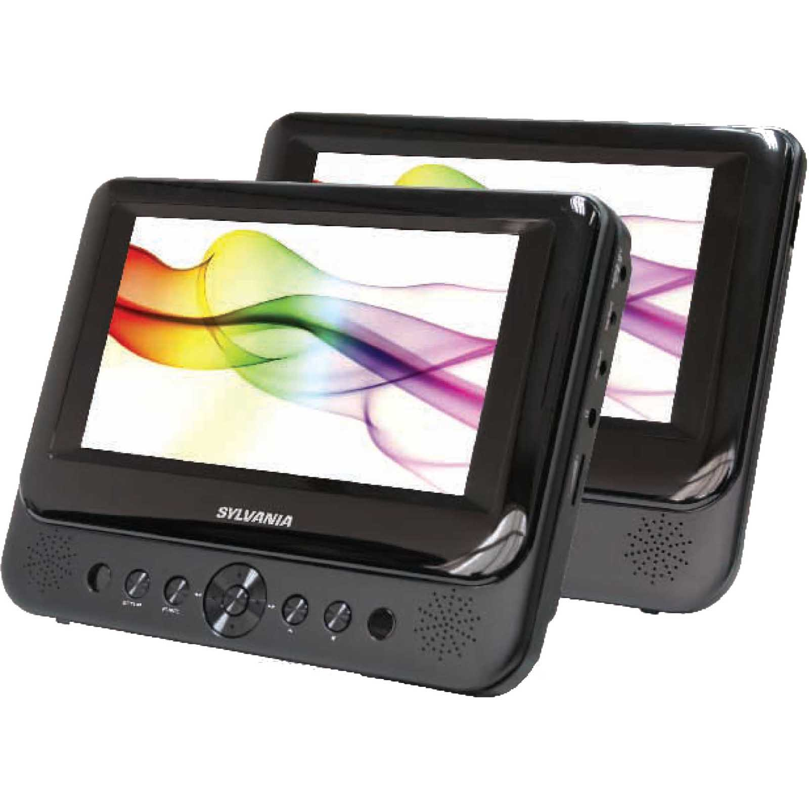 "Sylvania 7"" Dual Screen Portable DVD Player PartNumber: 018W005927353003P KsnValue: 5927353 MfgPartNumber: SDVD8737A"