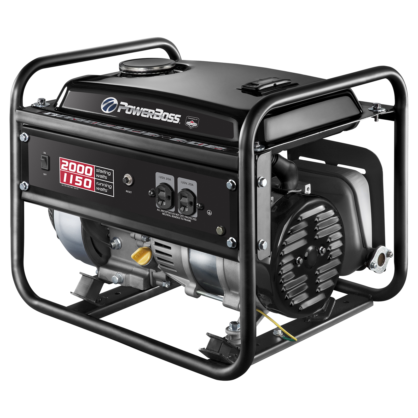 BRIGGS & STRATTON® POWERBOSS GENERATOR, 1-1/2 GALLONS, 120 VOLTS, 1,150 WATTS PartNumber: 07189103000P