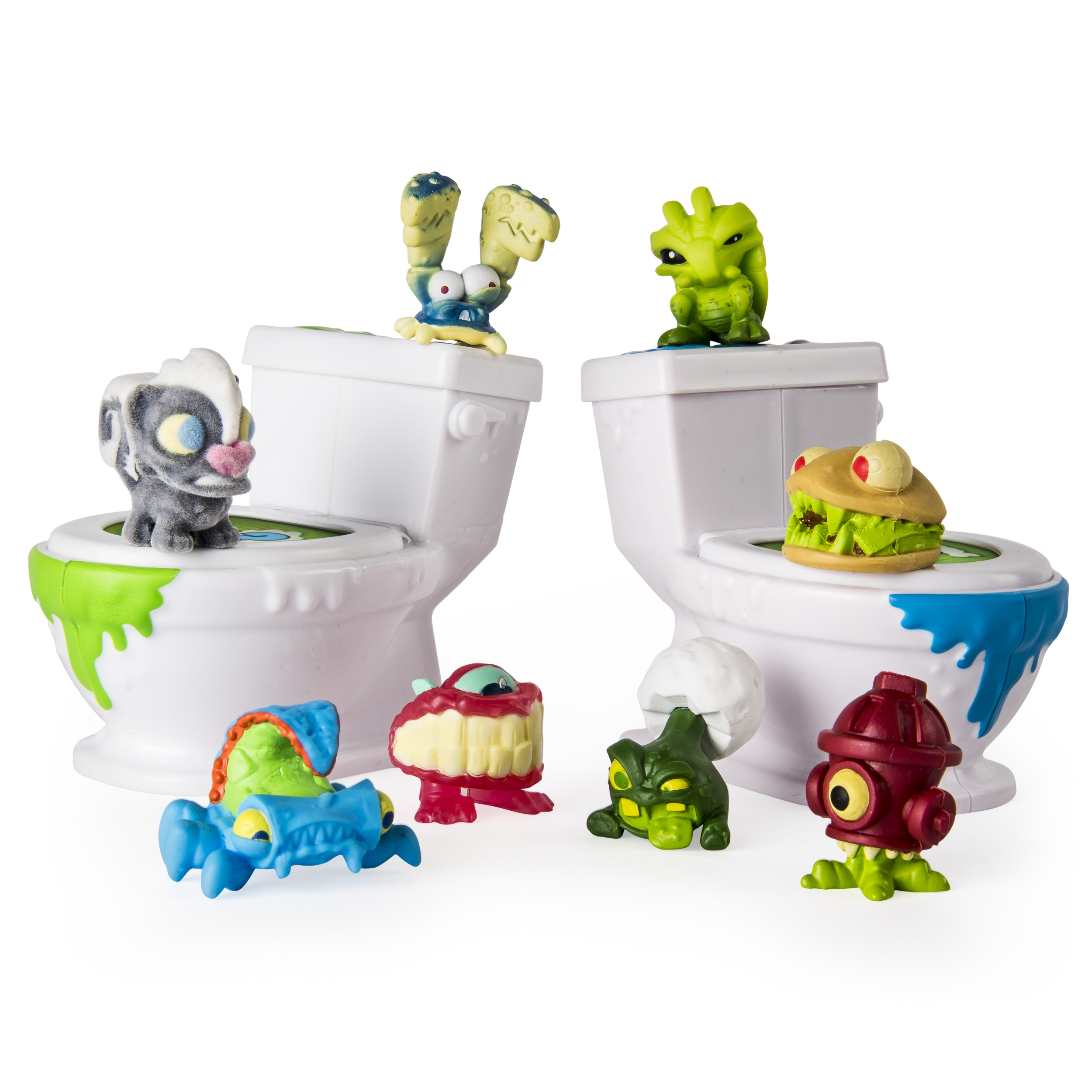 Spin Master Games Flush Force – Series 1 - Bizarre Bathroom Collectible 8-Pack Figures (Color/Styles May Vary) PartNumber: A018027249 KsnValue: 004W002461202001 MfgPartNumber: 6037316