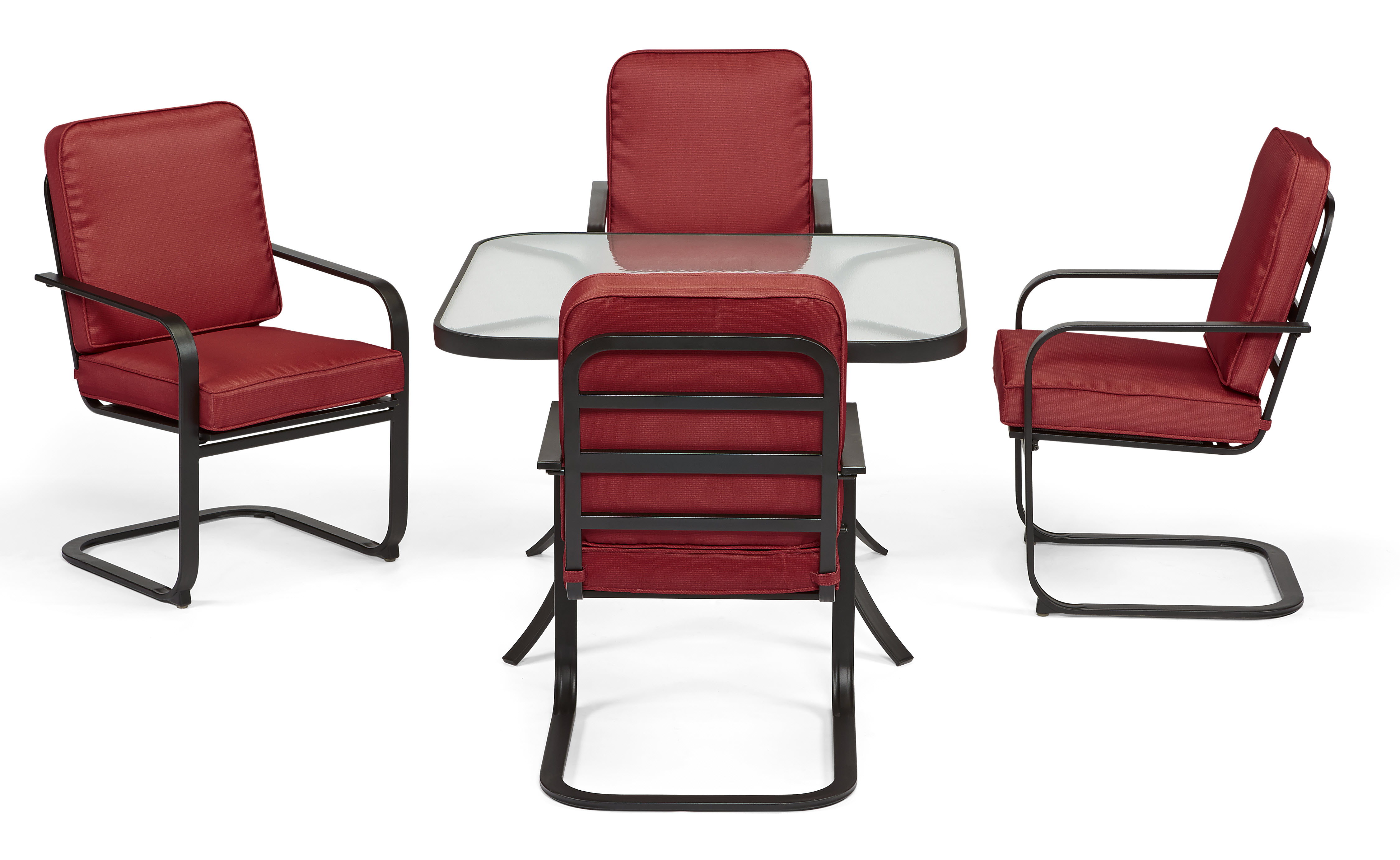 Essential Garden Bisbee Set of 4 Dining Chairs - Red