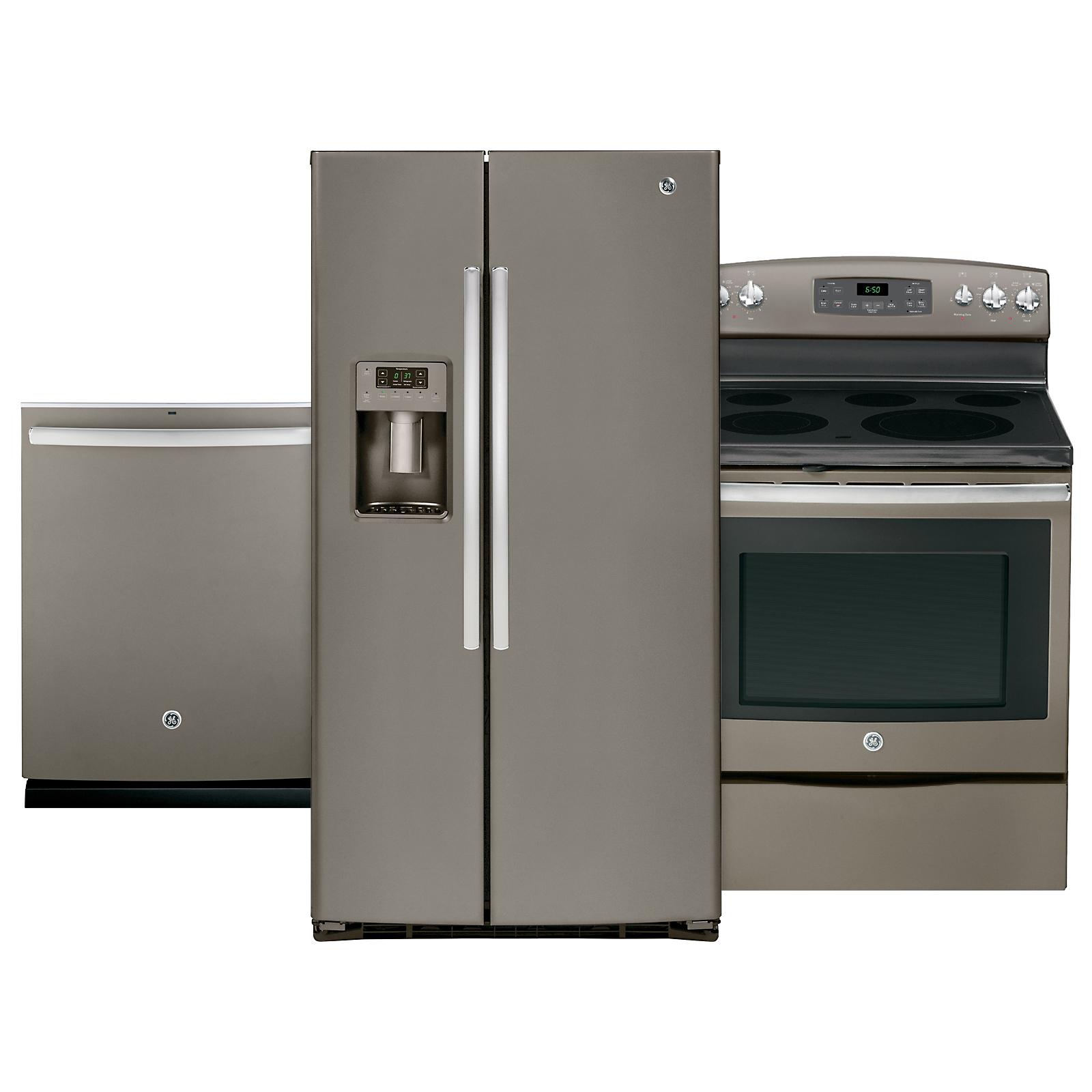 GE Appliances 3 Piece Kitchen Suite   Slate