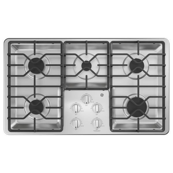 "GE Appliances JGP3036SLSS  36"" Built-In Gas Cooktop - Stainless Steel"