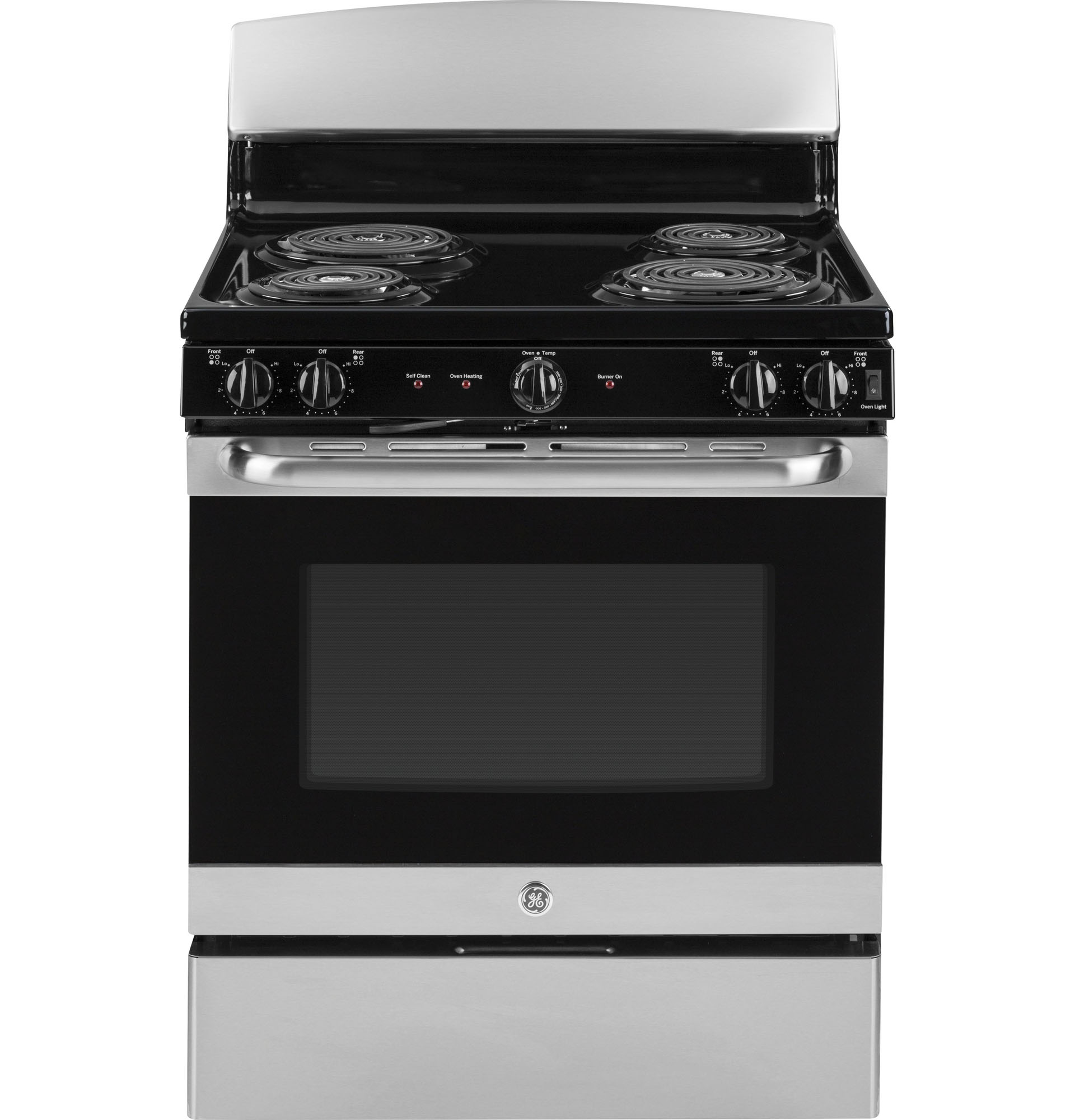 GE Appliances JB450RKSS 30 Freestanding Electric Range w/Front Controls - Stainless Steel