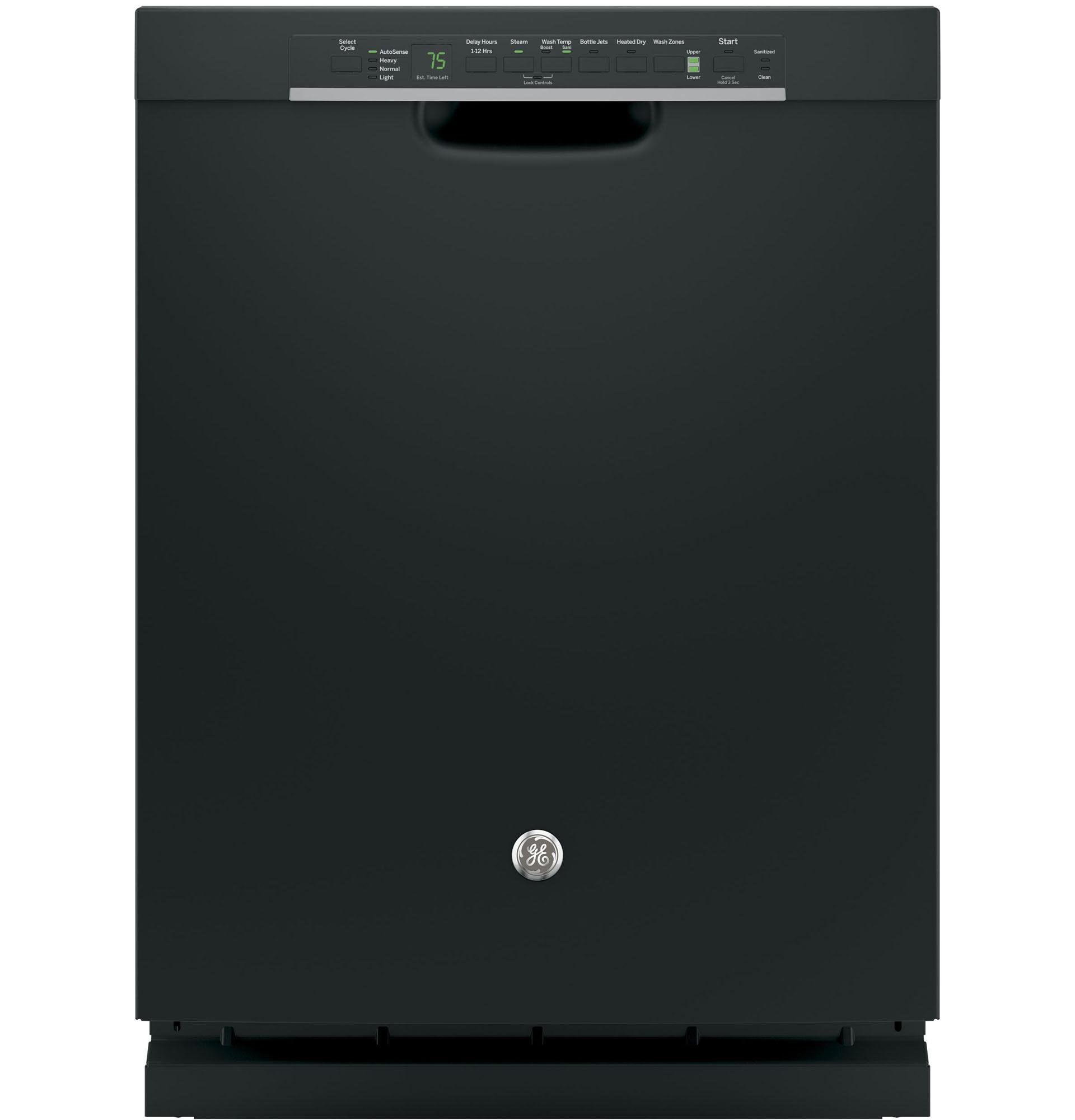 Shop Ge 24 In Black Dishwasher With Piranha Hard Food: GE Appliances GDF650SGJBB 24 In Built-In Dishwasher W