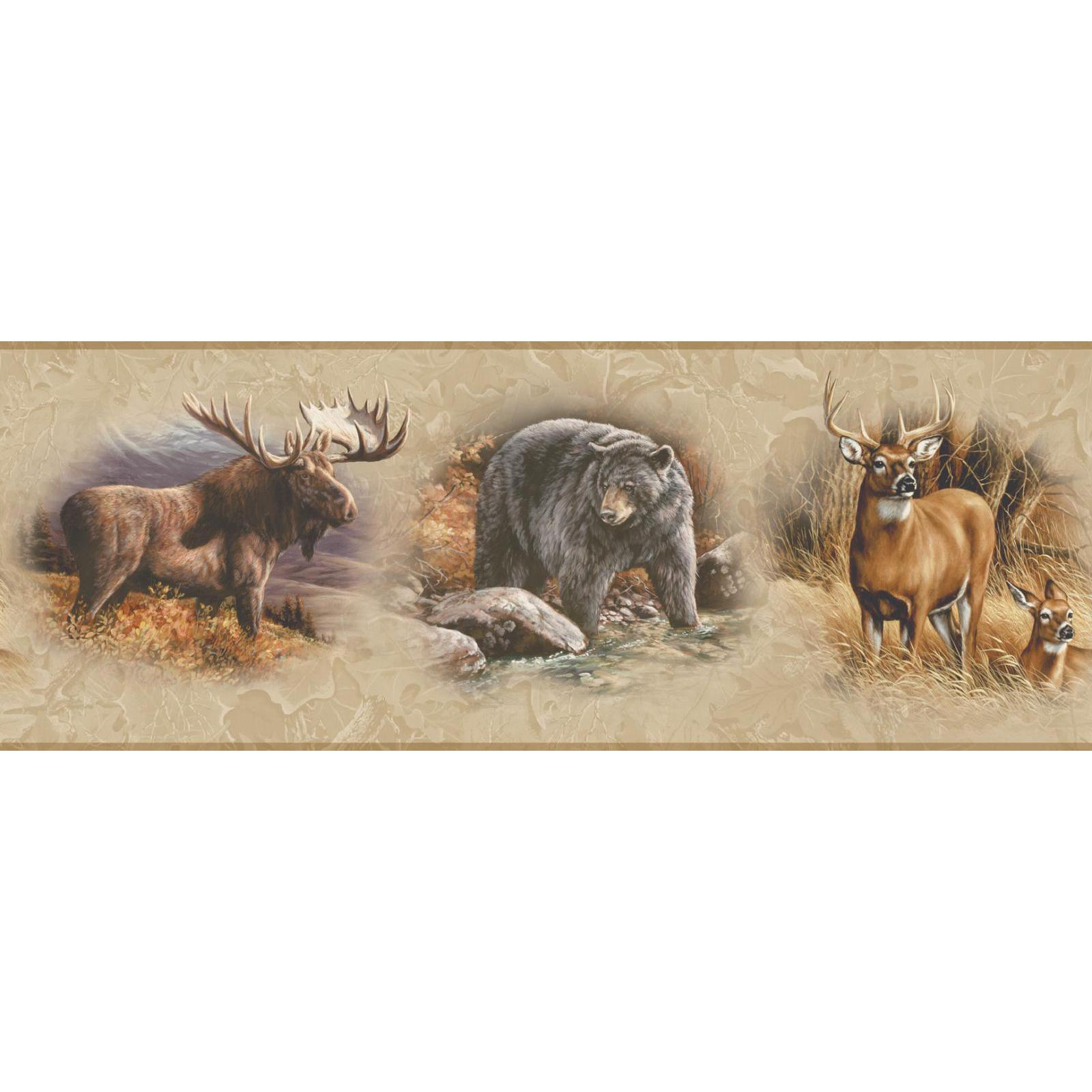 York Wallcoverings Border  North American Animals Border in Golden PartNumber: 00949793000P KsnValue: 2219660 MfgPartNumber: WD4305B