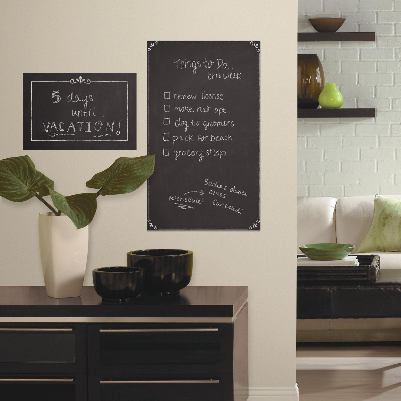 roommates decorative chalkboard peel and stick giant wall decals  - roommates decorative chalkboard peel and stick giant wall decals  home home decor  wall decor  tapestries  appliques