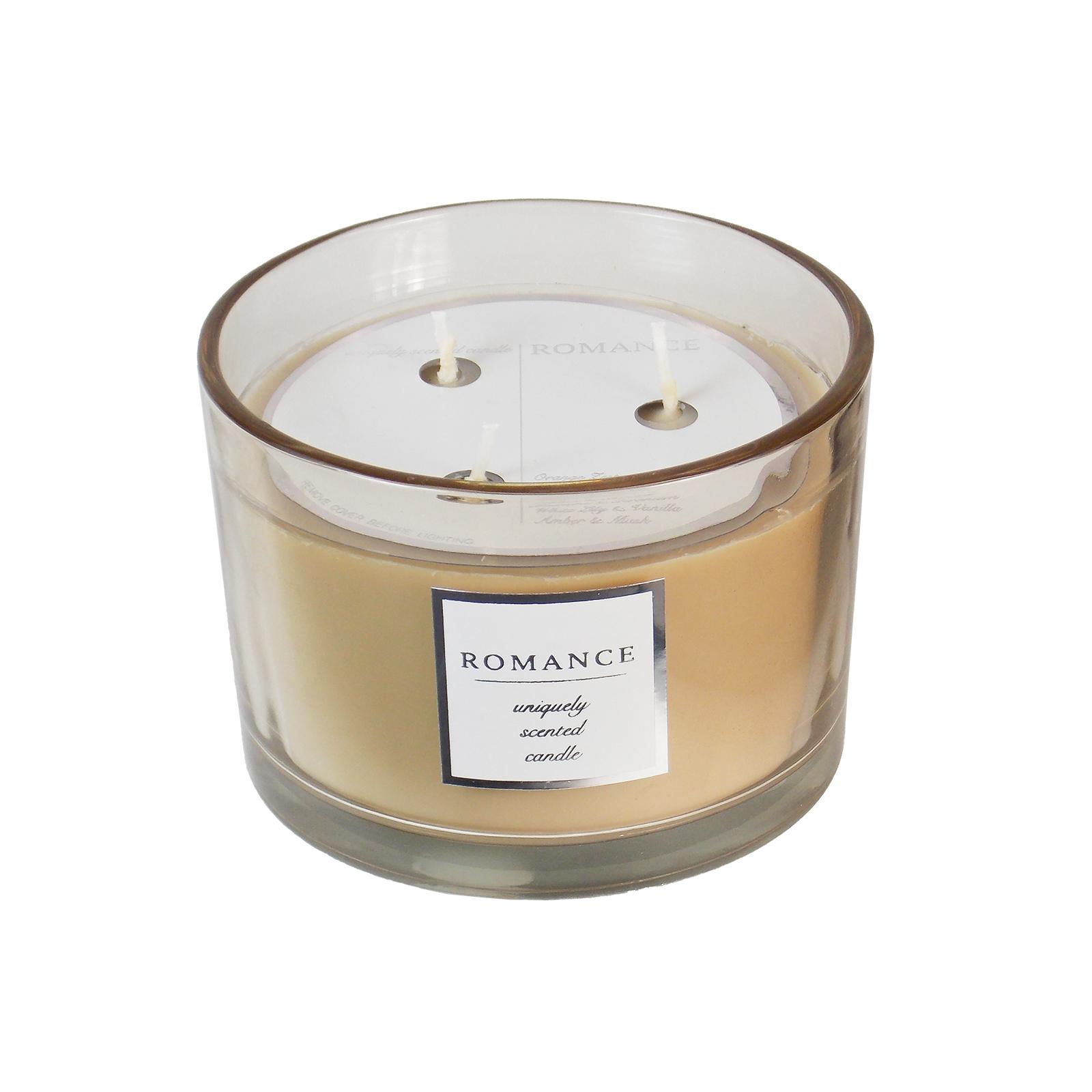 Romance 3-Wick Candle - 16 oz, Beige & Tan