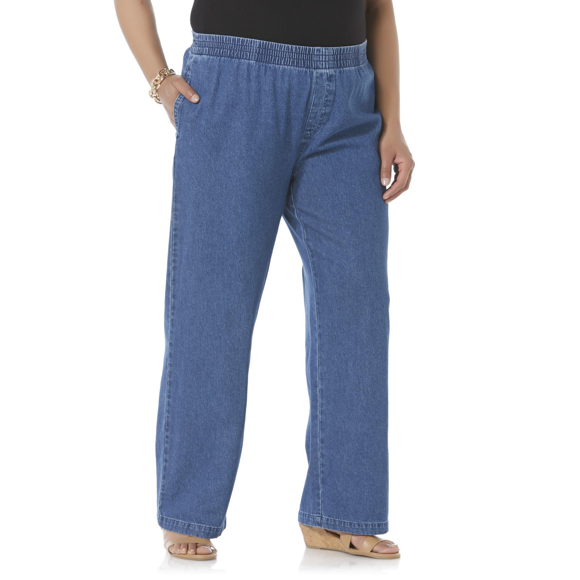 Women's Plus Elastic Waist Jeans