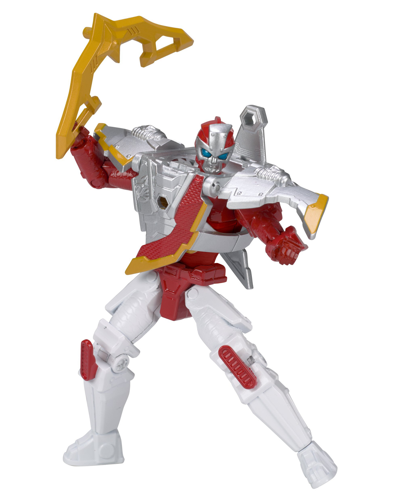 Power Rangers,Bandai Power Rangers Ninja Steel Mega Morph Robo 5 inch Action Figure - Red Zord PartNumber: 004W003474513005P