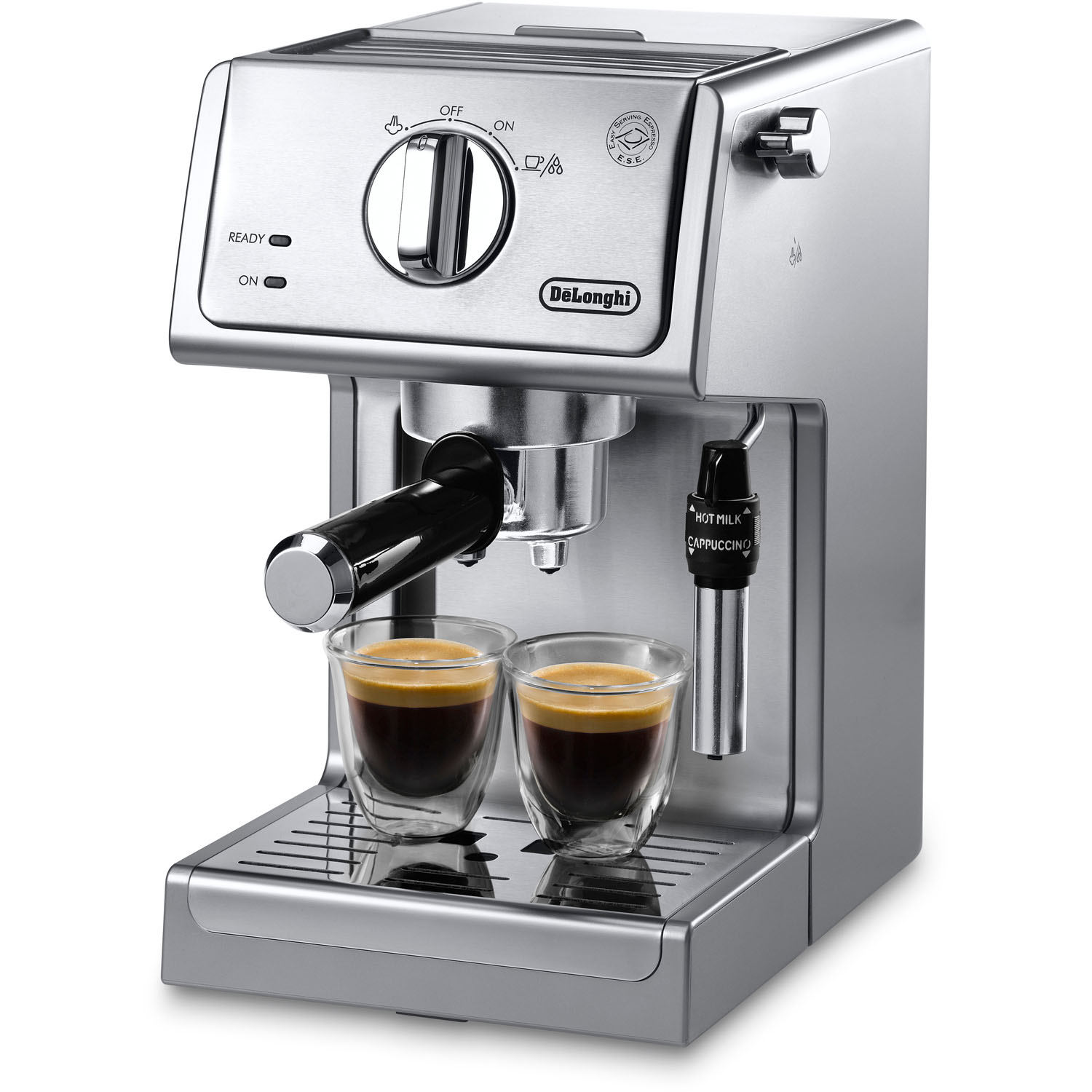 DeLONGHI 15-Bar Pump Espresso and Cappuccino Machine, Adjustable Advance per EA PartNumber: 00861776000P