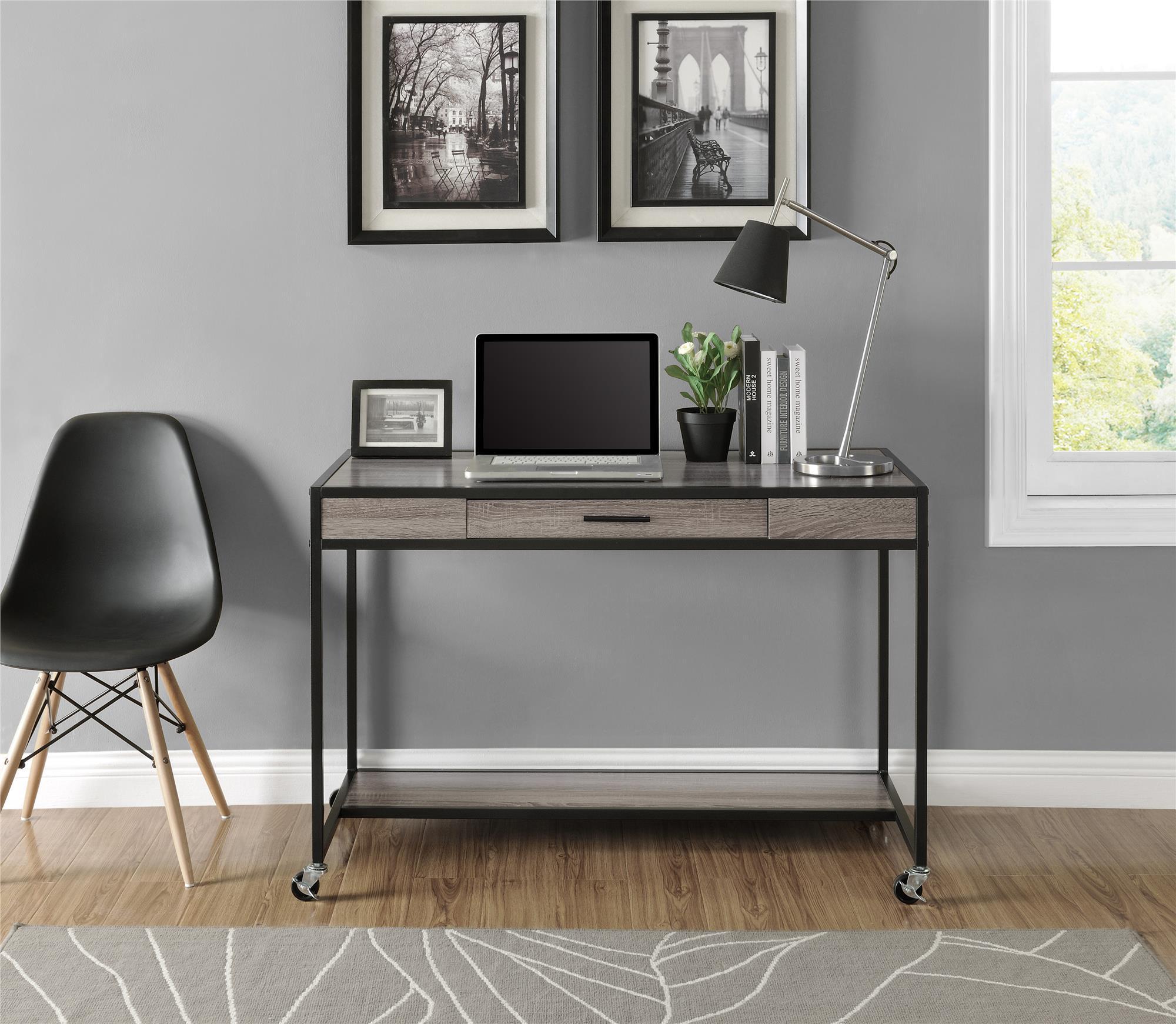 Dorel Home Furnishings Sonoma Oak Mason Ridge Mobile Desk