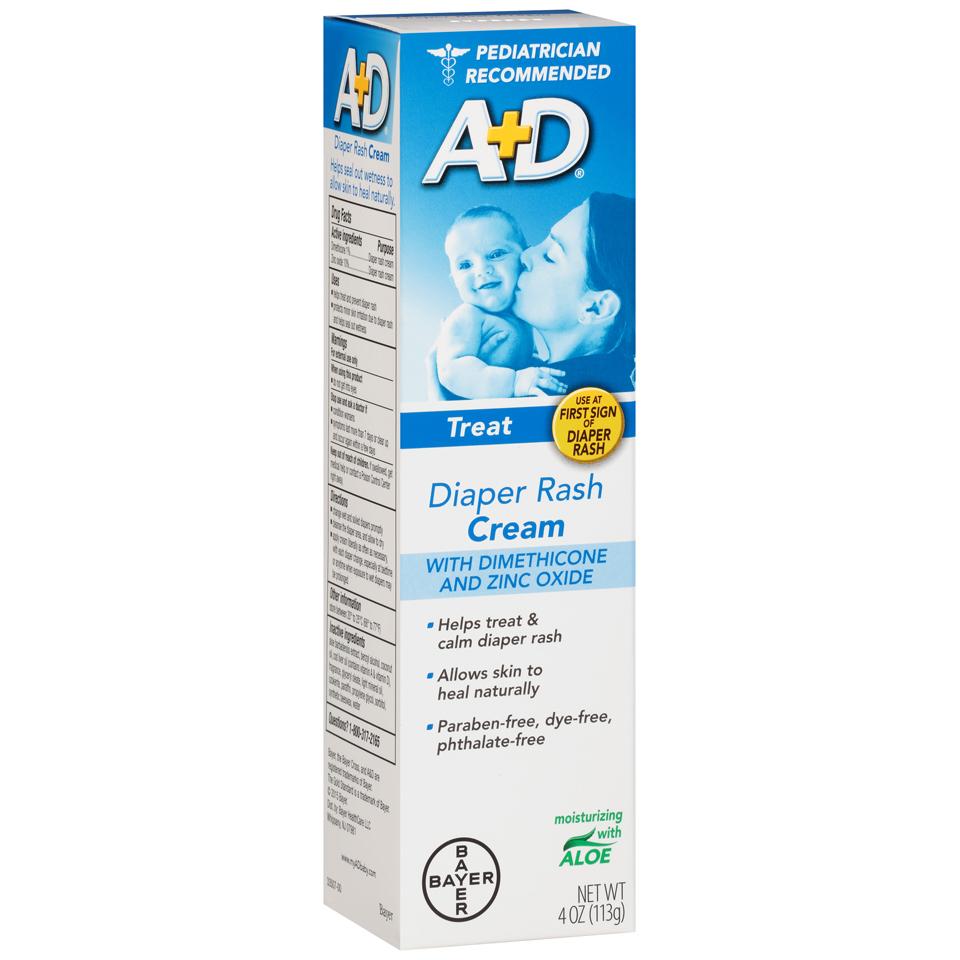 Image of A&D Zinc Oxide Cream, 4 oz, Size: Standard