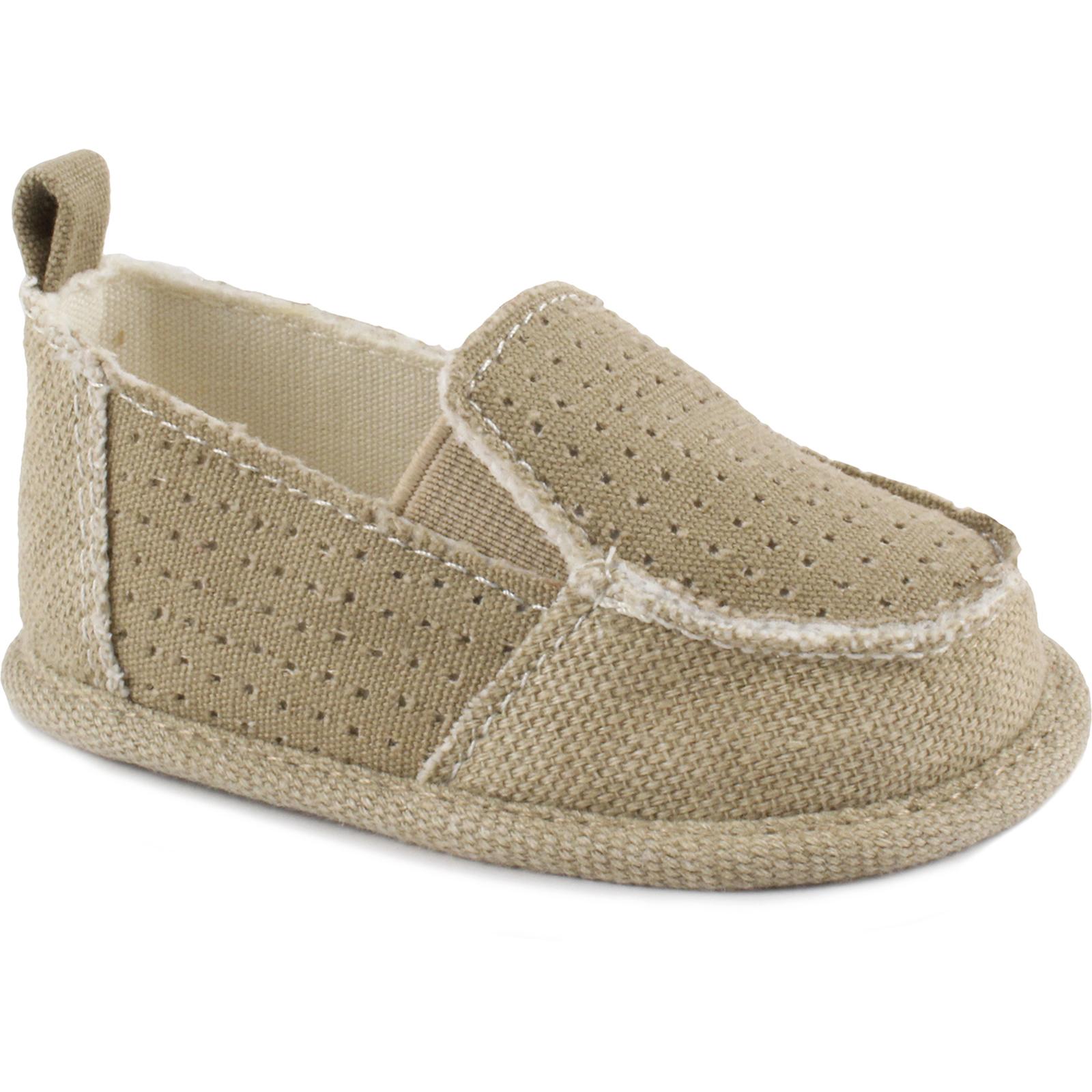 Little Wonders Infant Soft Sole Canvas Shoes – Brown