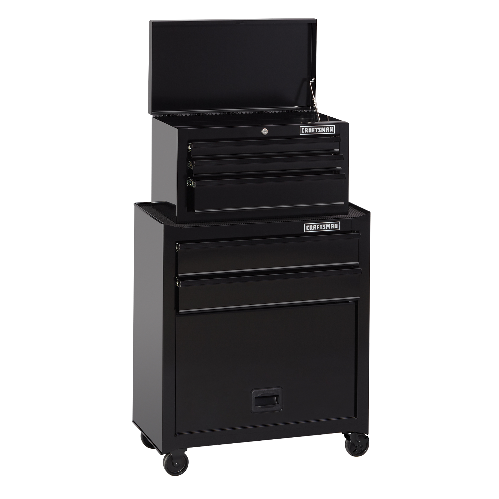 "Craftsman 26"""" Wide 5-Drawer Standard-Duty Tool Chest and Cabinet - Black"