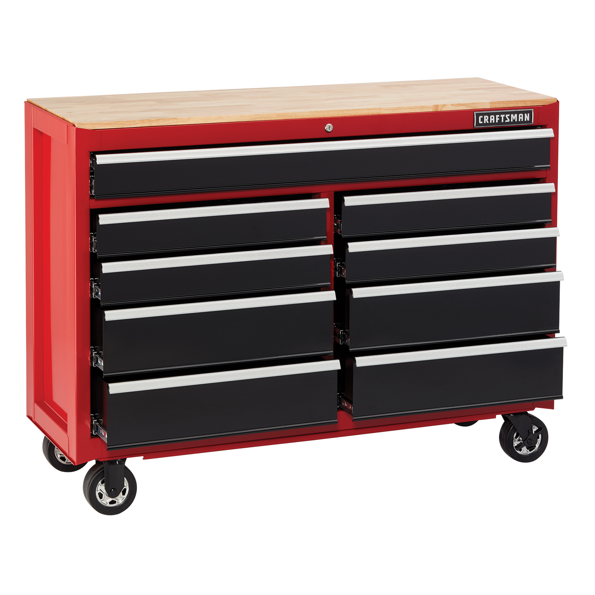 Craftsman 52 in. Wide 9-Drawer Heavy-Duty Ball-Bearing Mobile Workbench