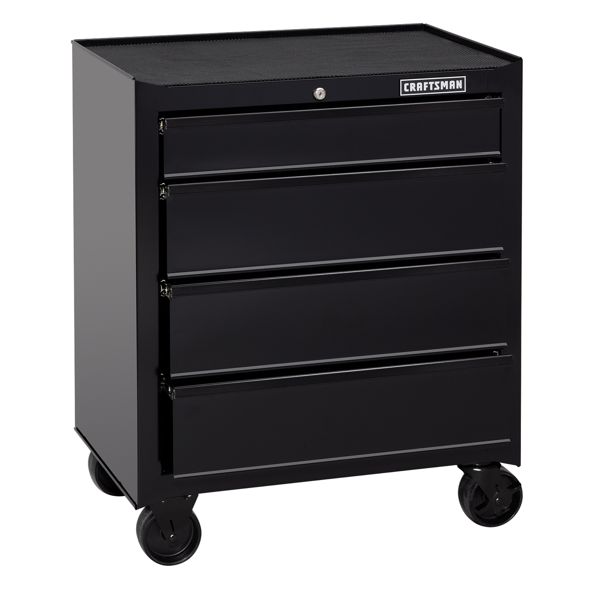 Craftsman 26 in. Wide 4-Drawer Standard Duty Ball-Bearing Rolling Tool Cabinet - Black