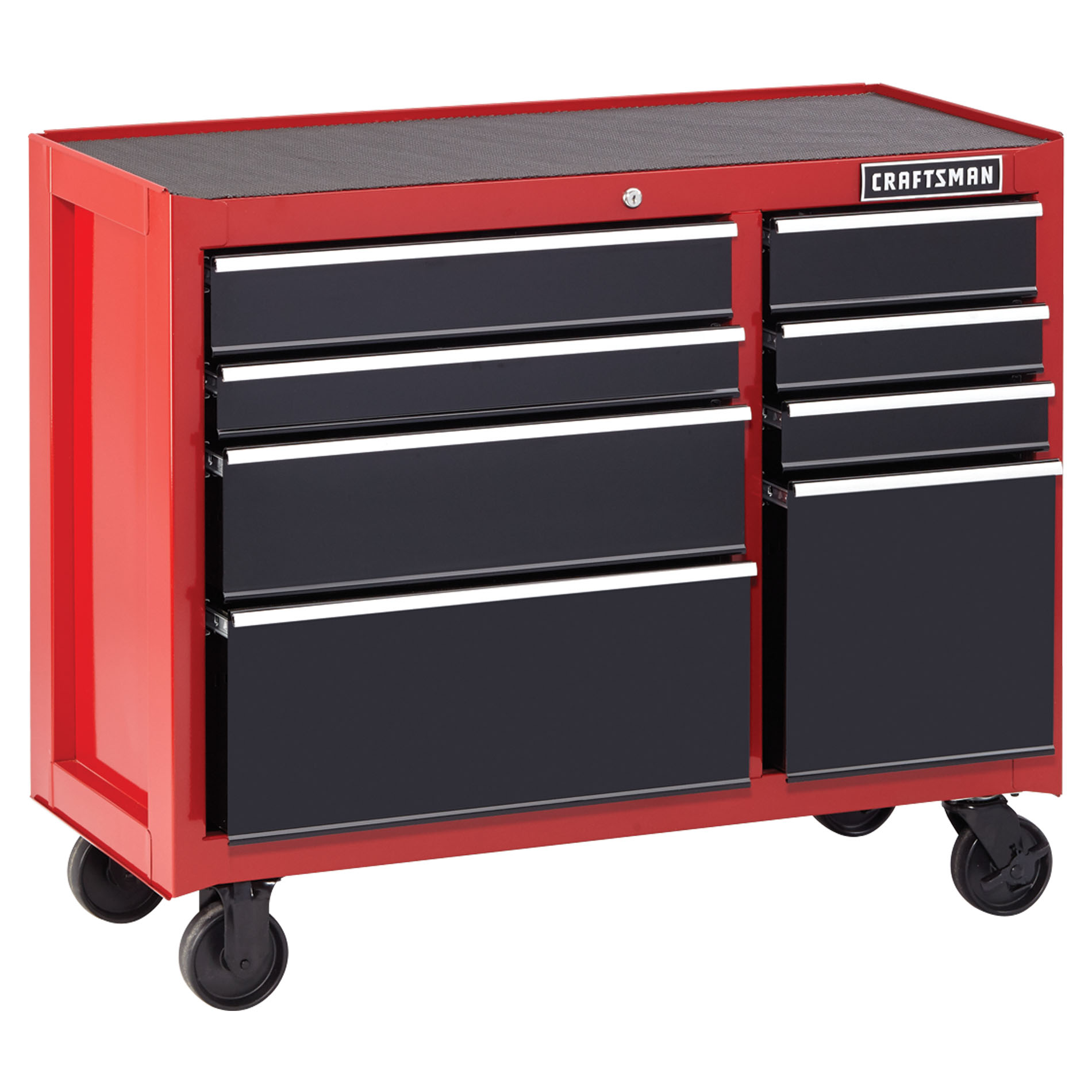 "Craftsman 41"""" 8-Drawer Heavy-Duty Rolling Cabinet - Red/Black"