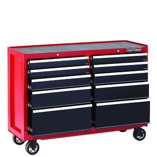 craftsman 52 10 drawer heavy duty rolling cart red. Black Bedroom Furniture Sets. Home Design Ideas