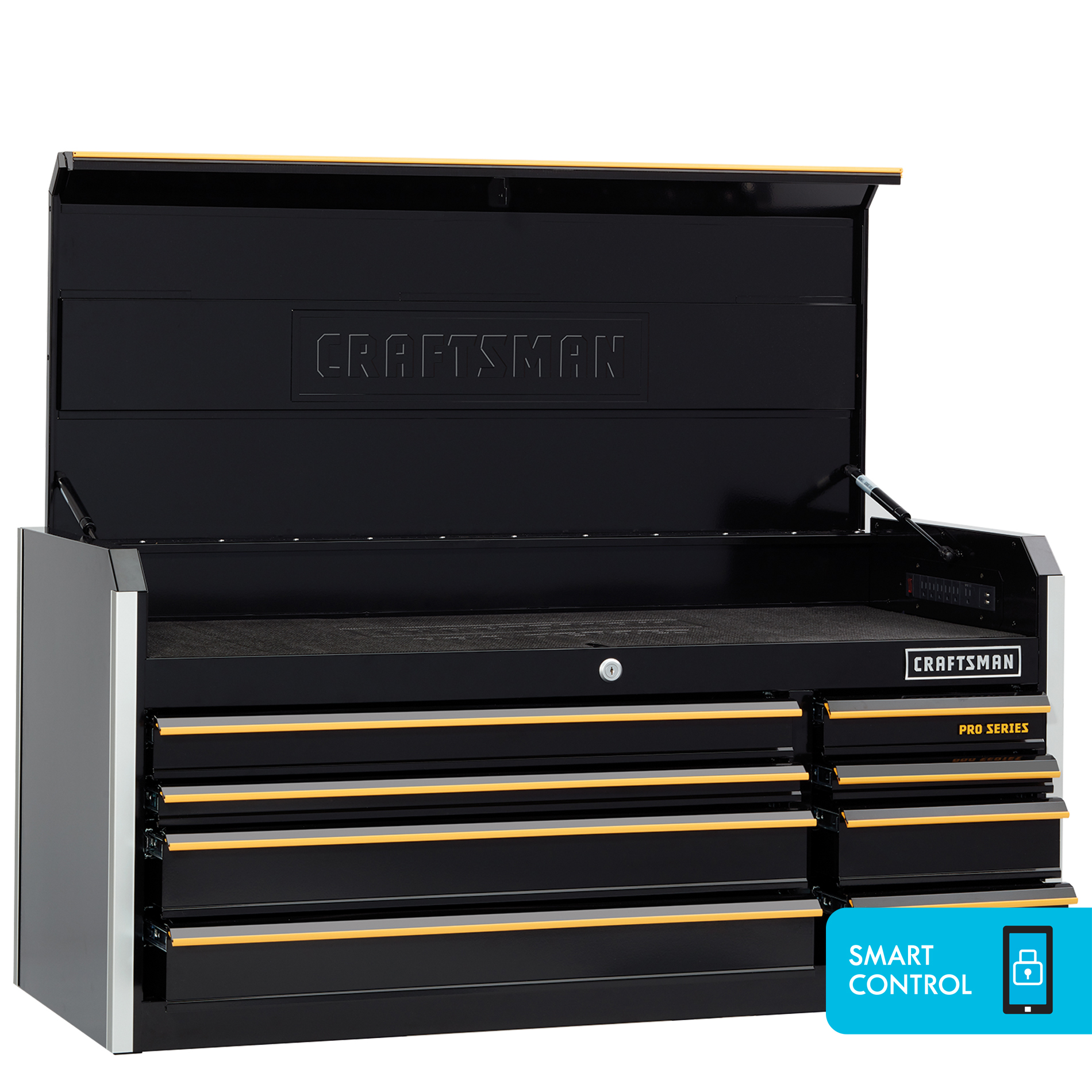"Craftsman ProSeries 52"""" 8-Drawer Top Chest - Black"