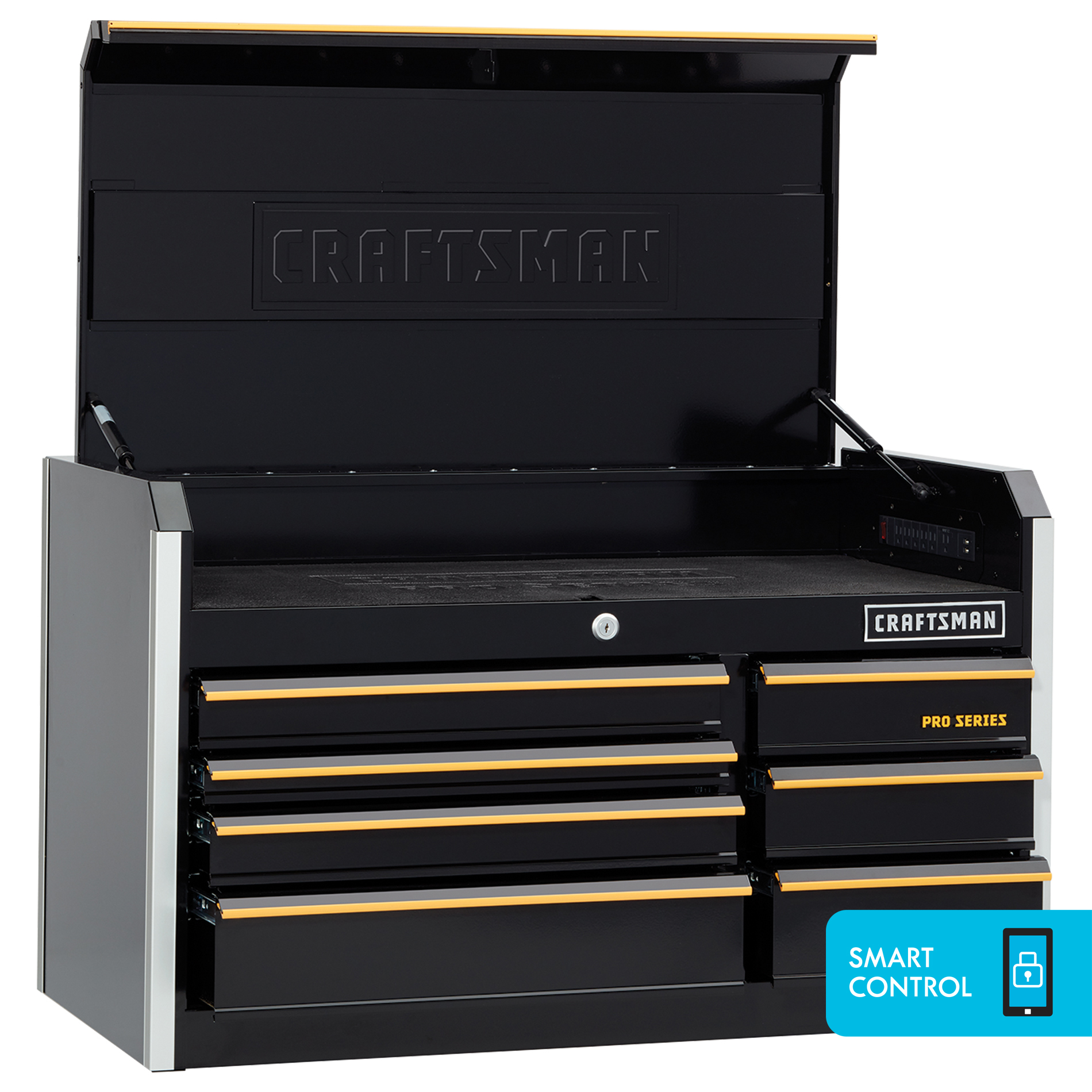 Craftsman ProSeries 41-Inch Wide 7-Drawer Top Chest - Black