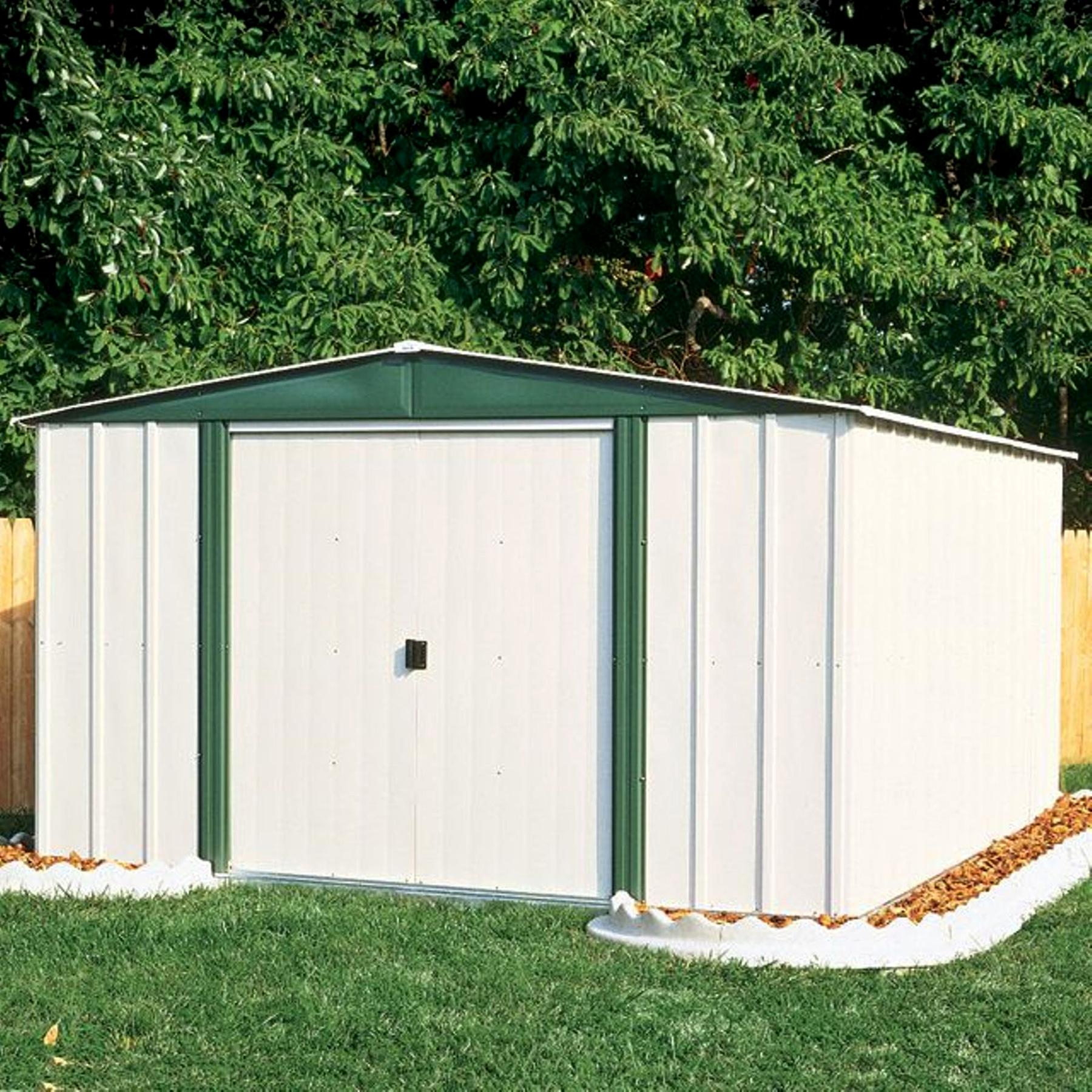 Arrow Gable Steel Lawn Building Eggshellgreen image