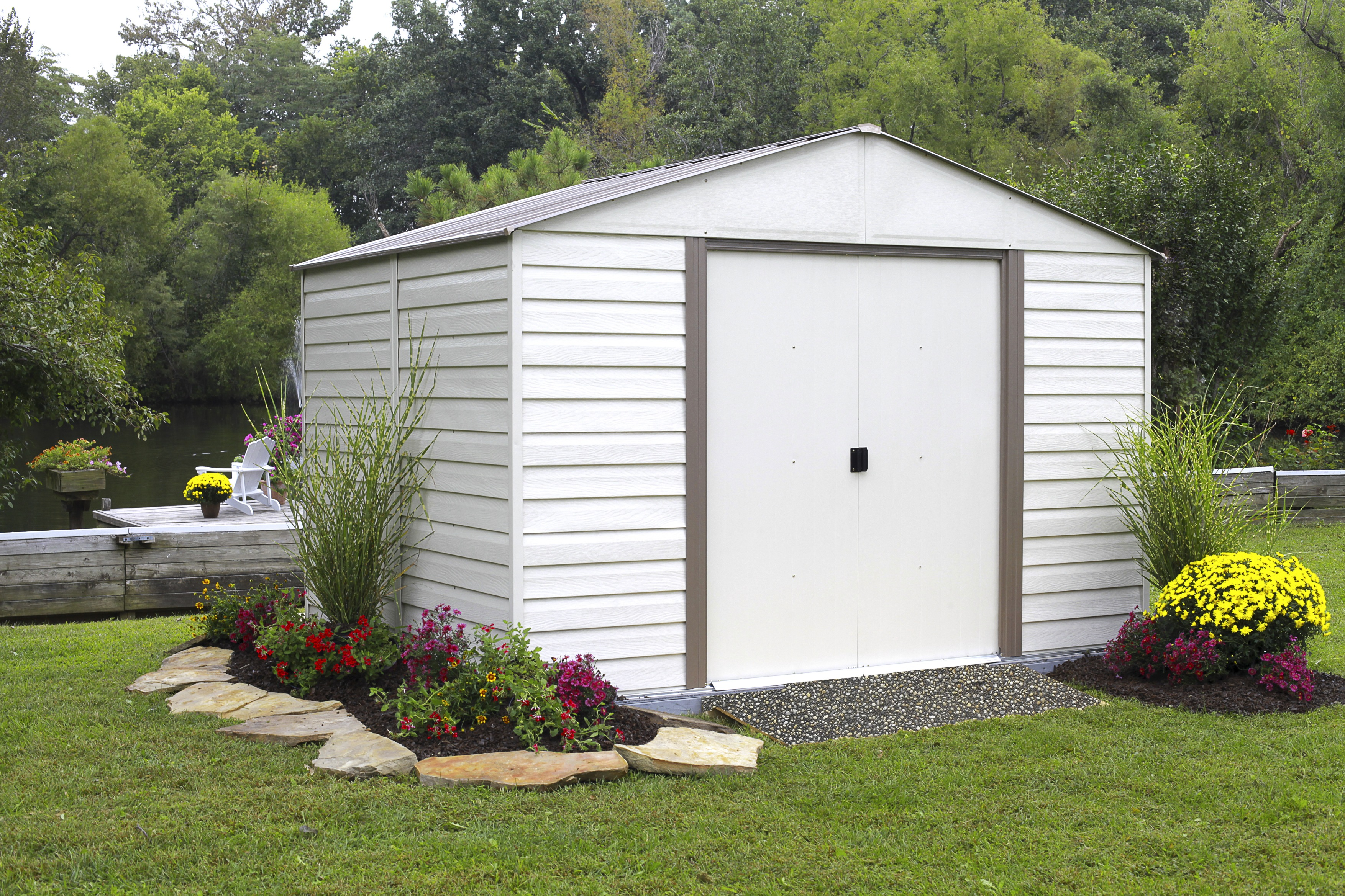 build moderna solid vinyl shed sheds free wood shipping p