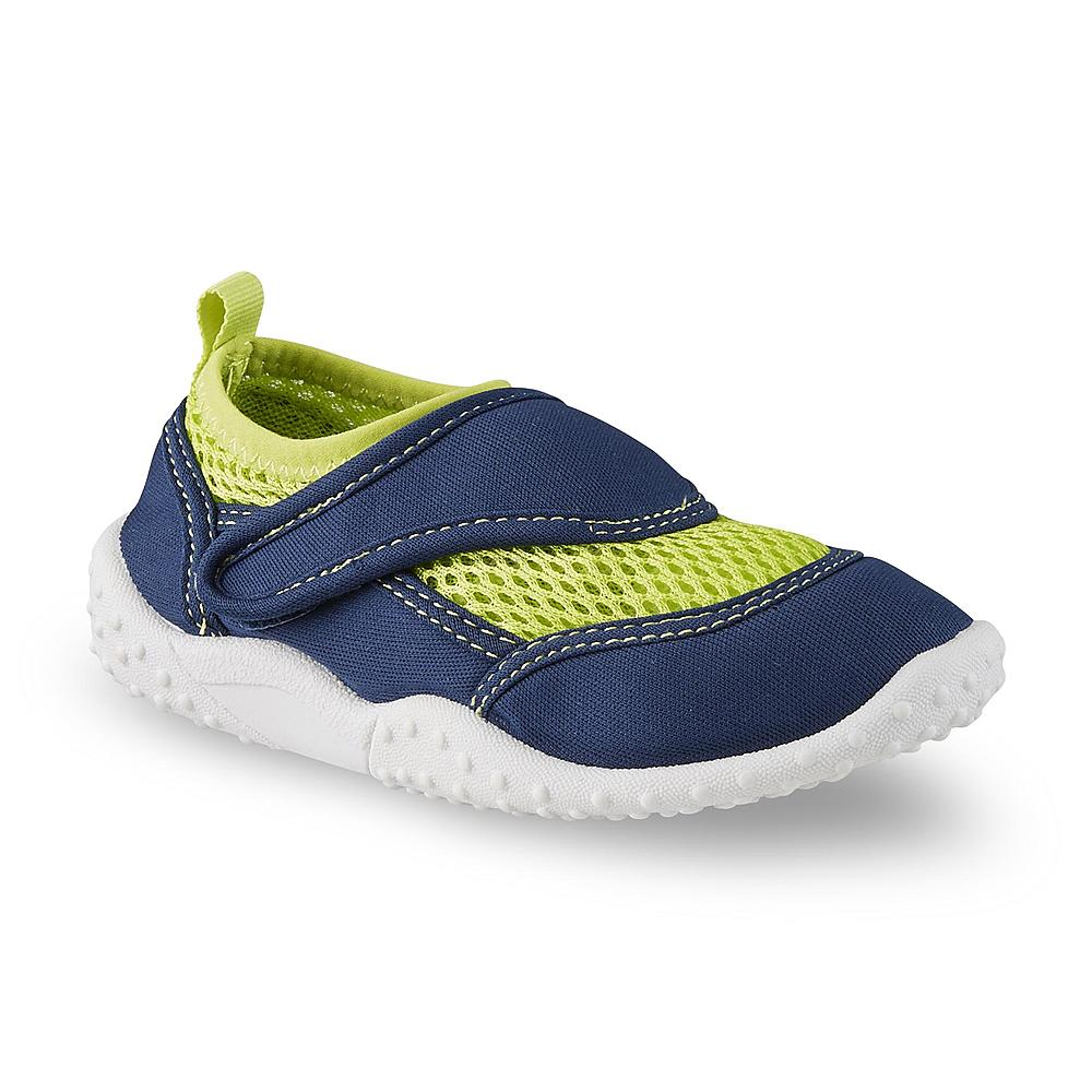 Athletech Toddler Boy's Swimmer Navy/Lime Green Water Shoe