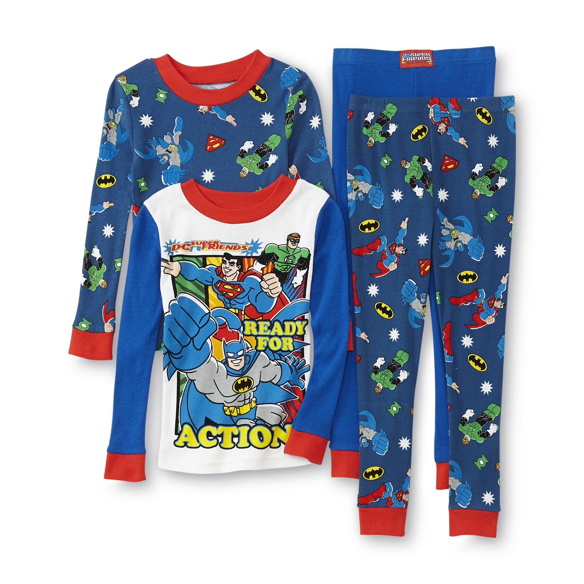 DC Comics Toddler Boy's 2-Pairs Long-Sleeve Pajamas