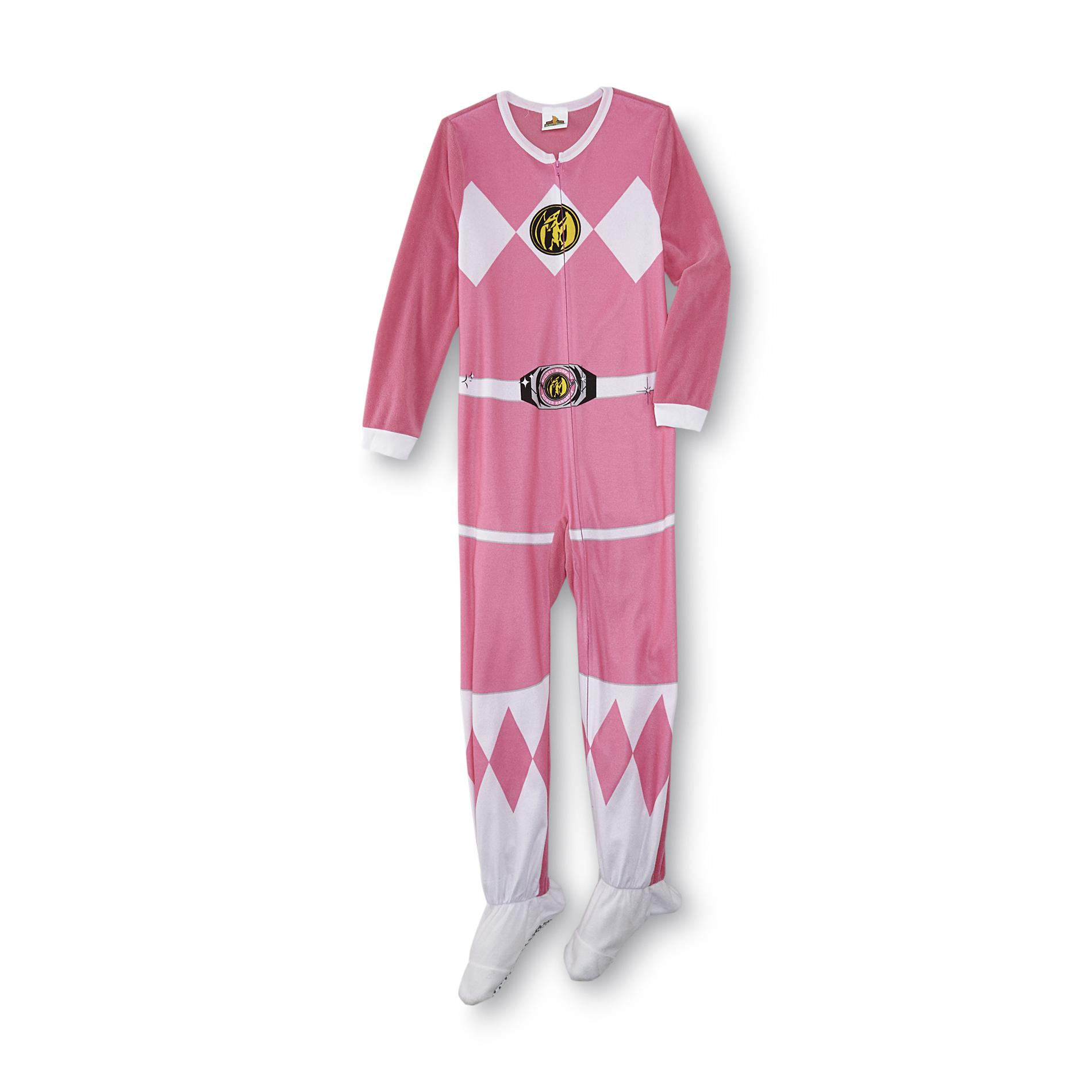 Power Rangers Girl S Footed Pajamas Clothing Shoes Jewelry
