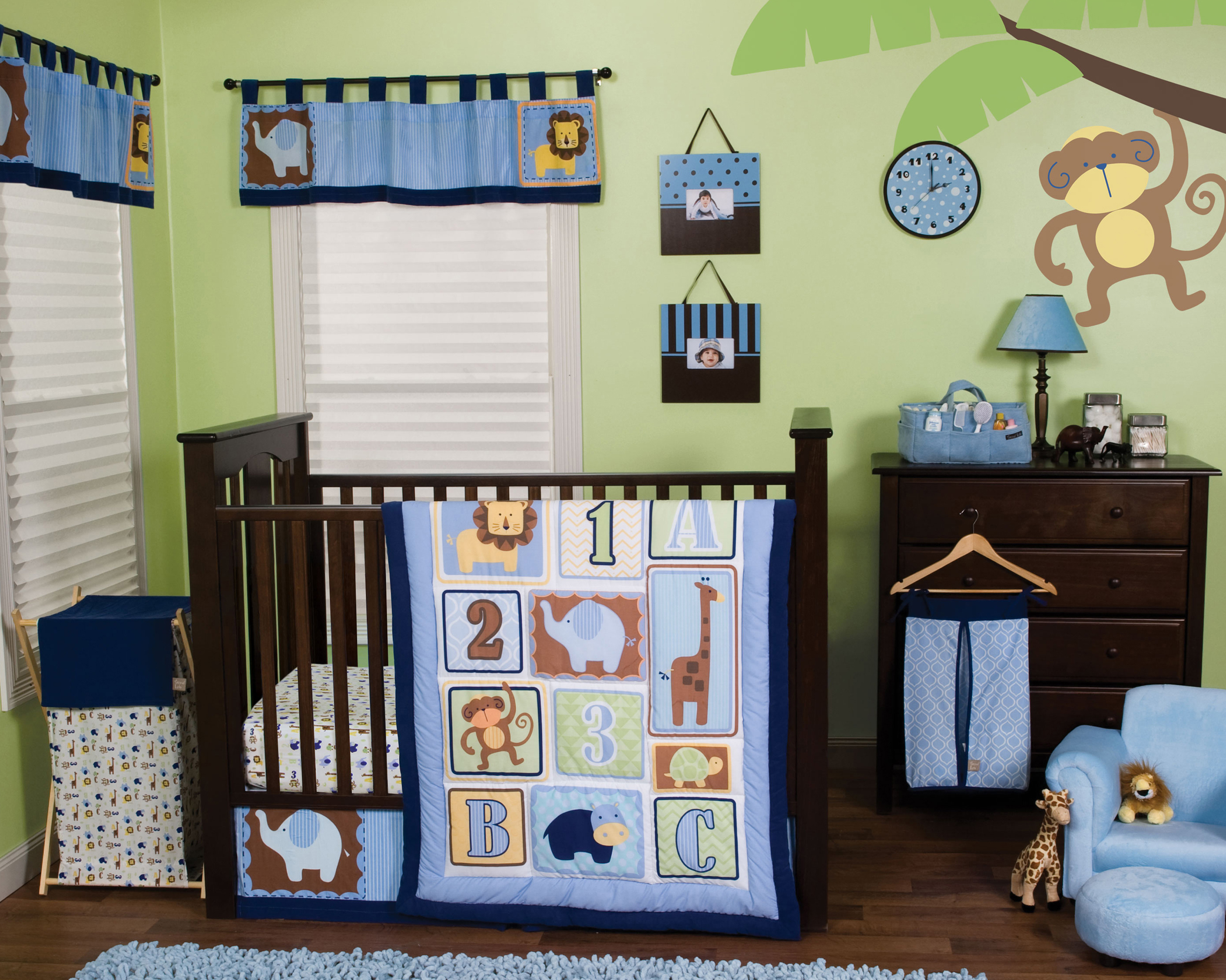 Trend Lab Jungle 123 6 Piece Crib Bedding Set