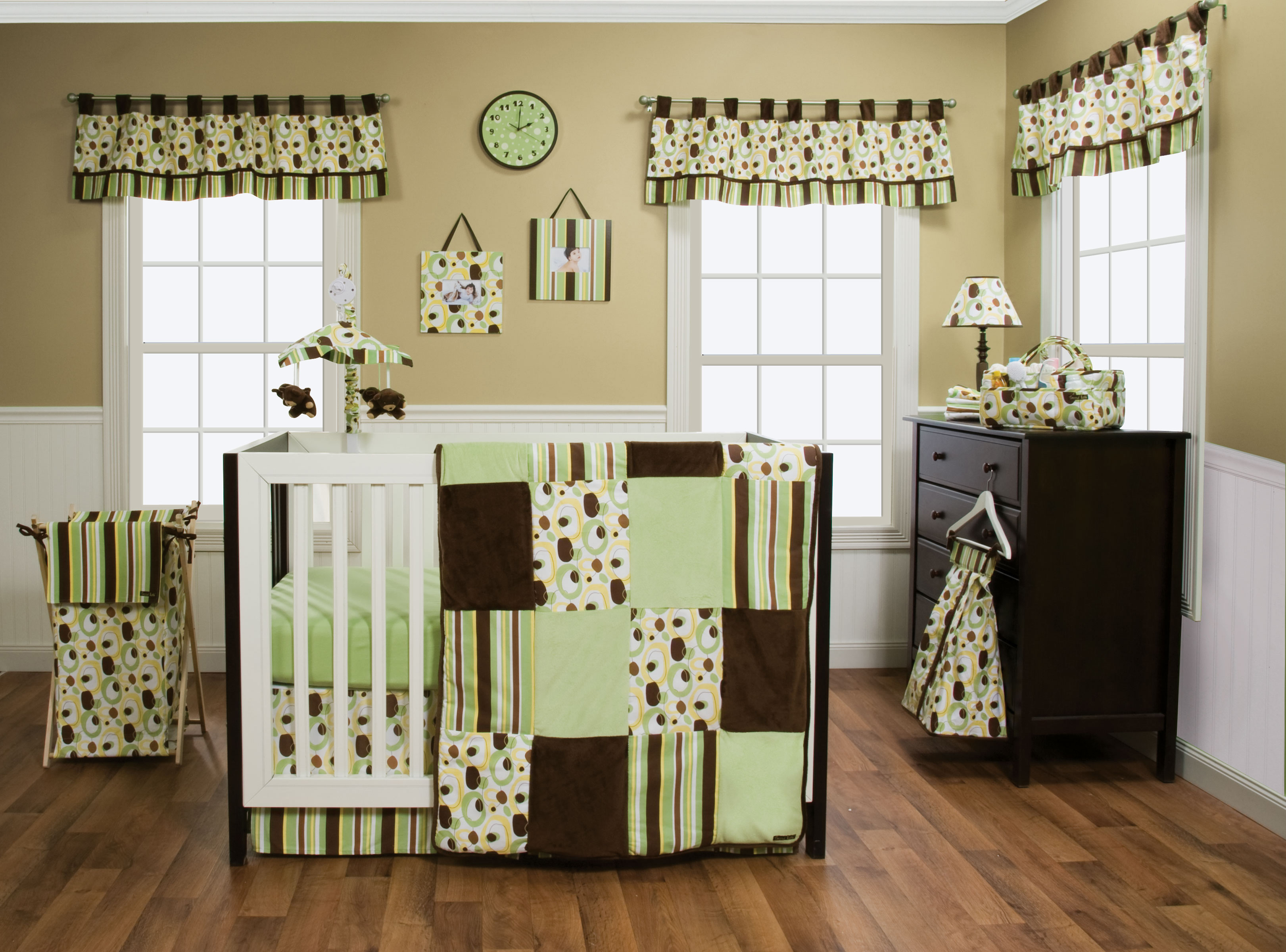 Trend Lab Giggles 6 Piece Crib Bedding Set